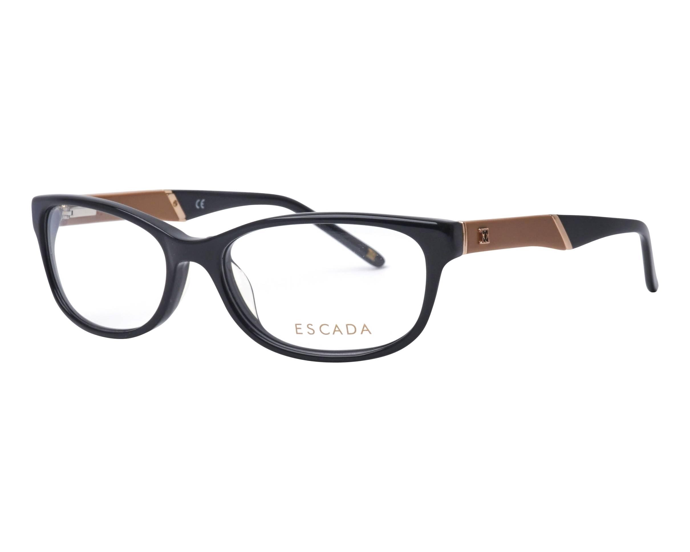 40584caa2b Gafas Graduadas Escada VES-208 0700 53-16 Negra Beige vista de perfil