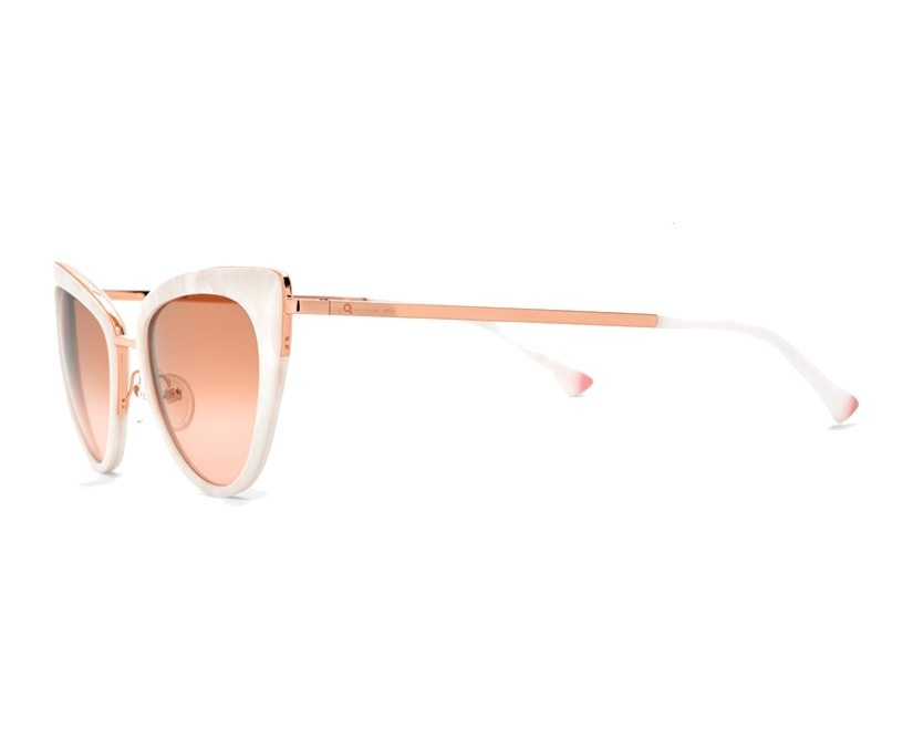 b37b885b68 Gafas de sol Etnia Barcelona AMELIA WHPK - Blanco Oro cobre vista de perfil