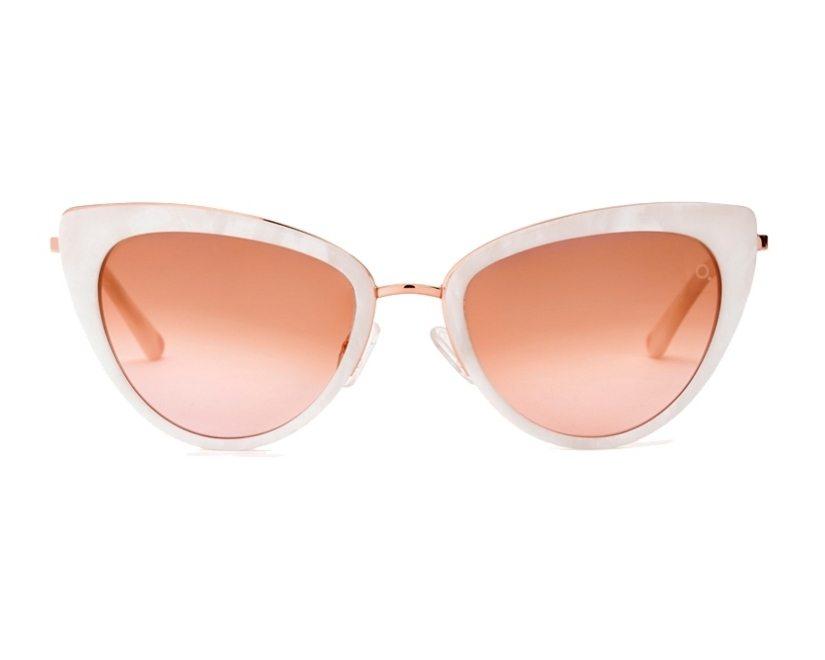 00bb13e209 Gafas de sol Etnia Barcelona AMELIA WHPK - Blanco Oro cobre vista de frente