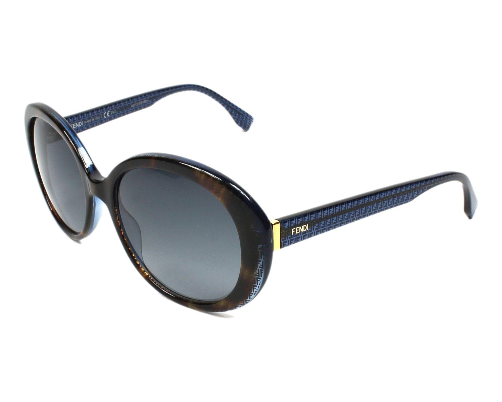 98b8ad3274 Gafas de sol Fendi FF-0001-S 7OYHD - Havana Azul vista de perfil