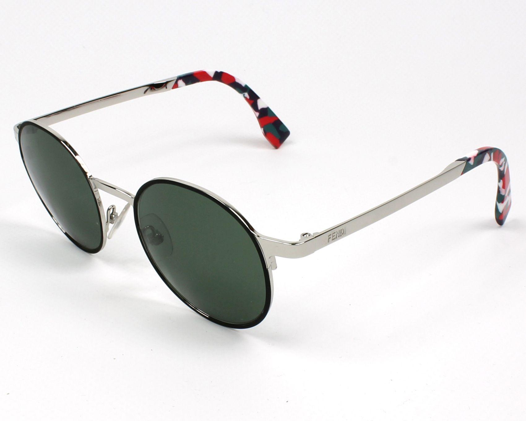 61e5e4b0ba Gafas de sol Fendi FF-0090-S D4185 49-20 Plata Negra vista