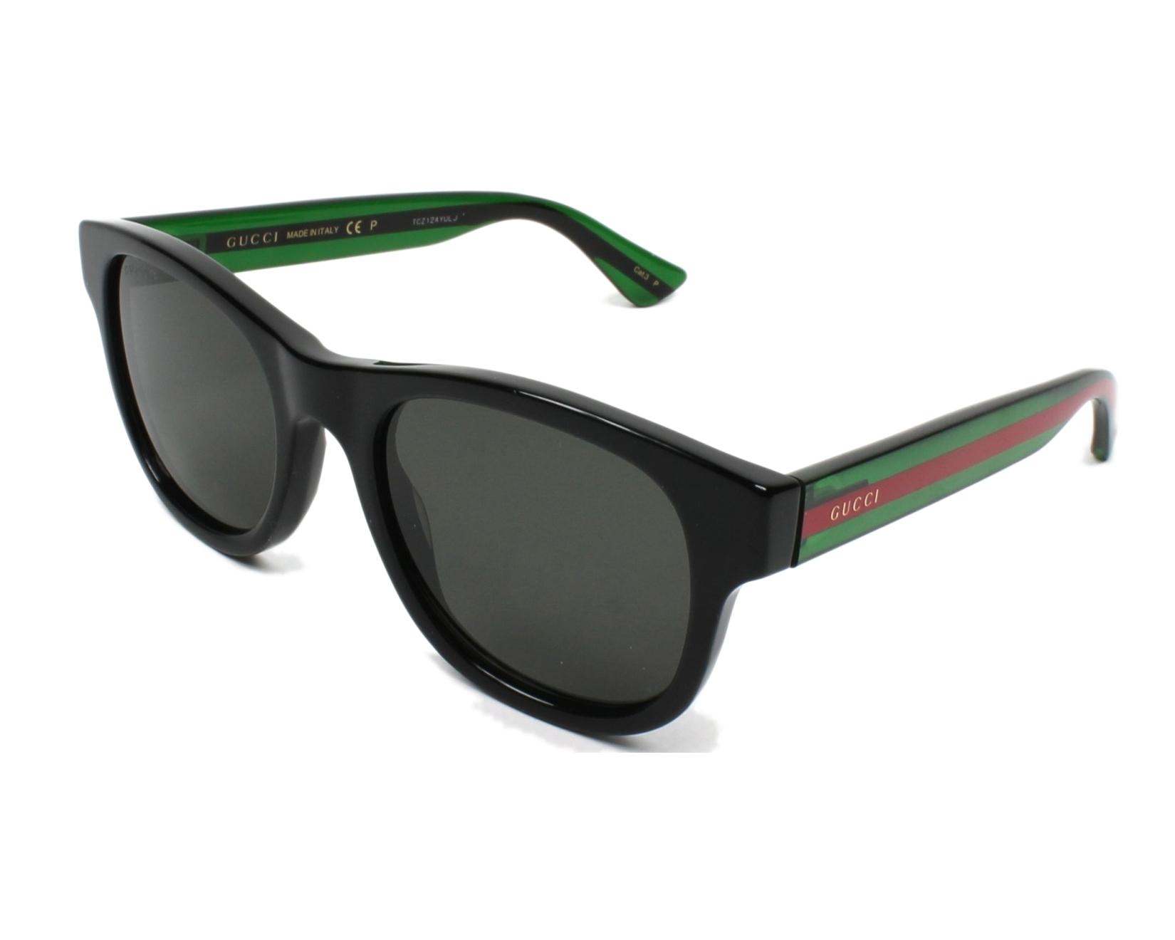 fb87b0c44b Gafas de sol Gucci GG-0003-S 006 52-21 Negra vista de