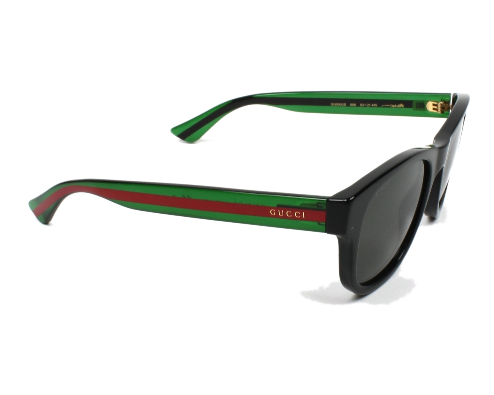 f13106db5c Gafas de sol Gucci GG-0003-S 006 52-21 Negra vista lateral