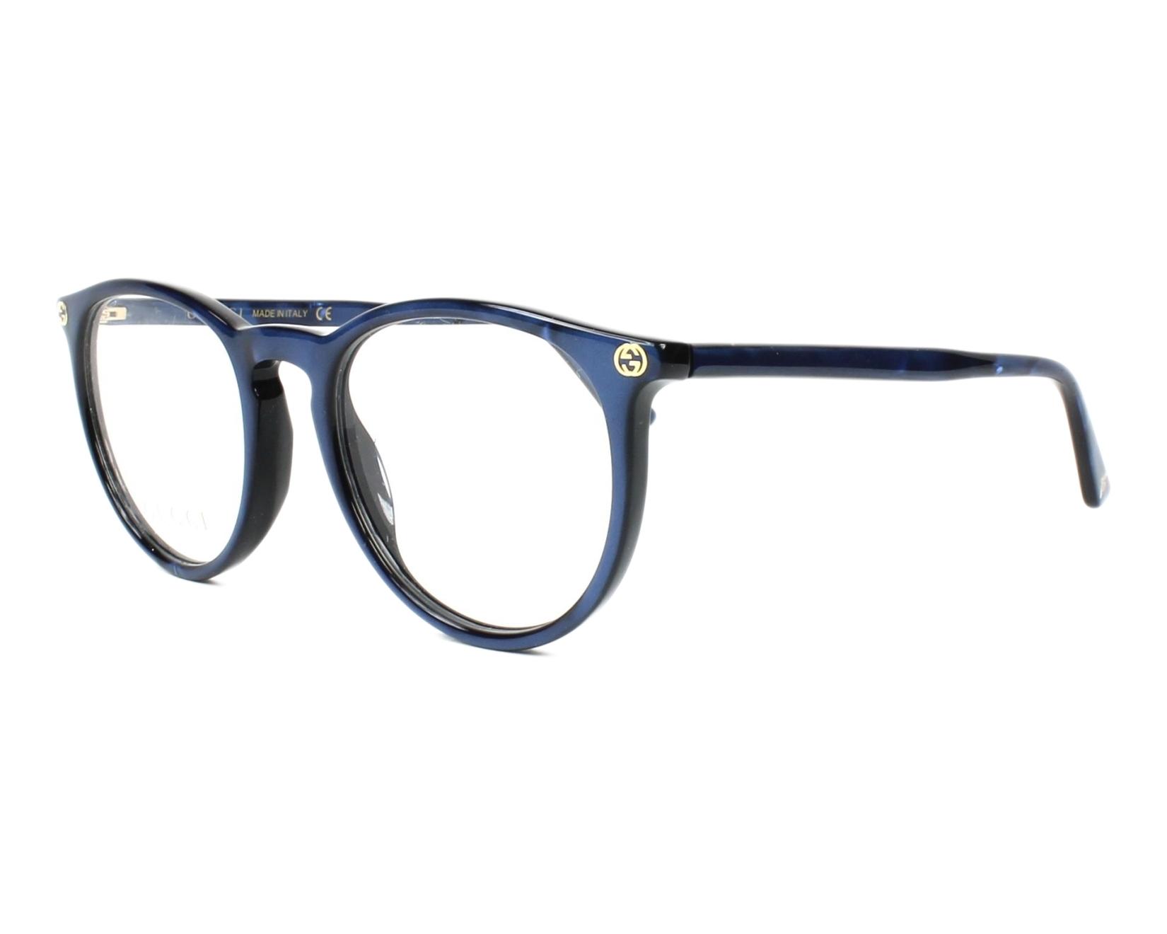 ebab18c15b7e4 Gafas graduadas gucci azul vista de perfil jpg 1650x1320 Lentes gucci para  mujer