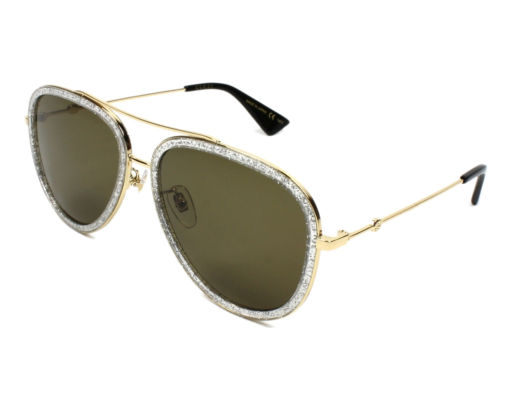 3e418199ae3 Gafas de sol Gucci GG-0062-S 004 - Oro Cristal vista de perfil