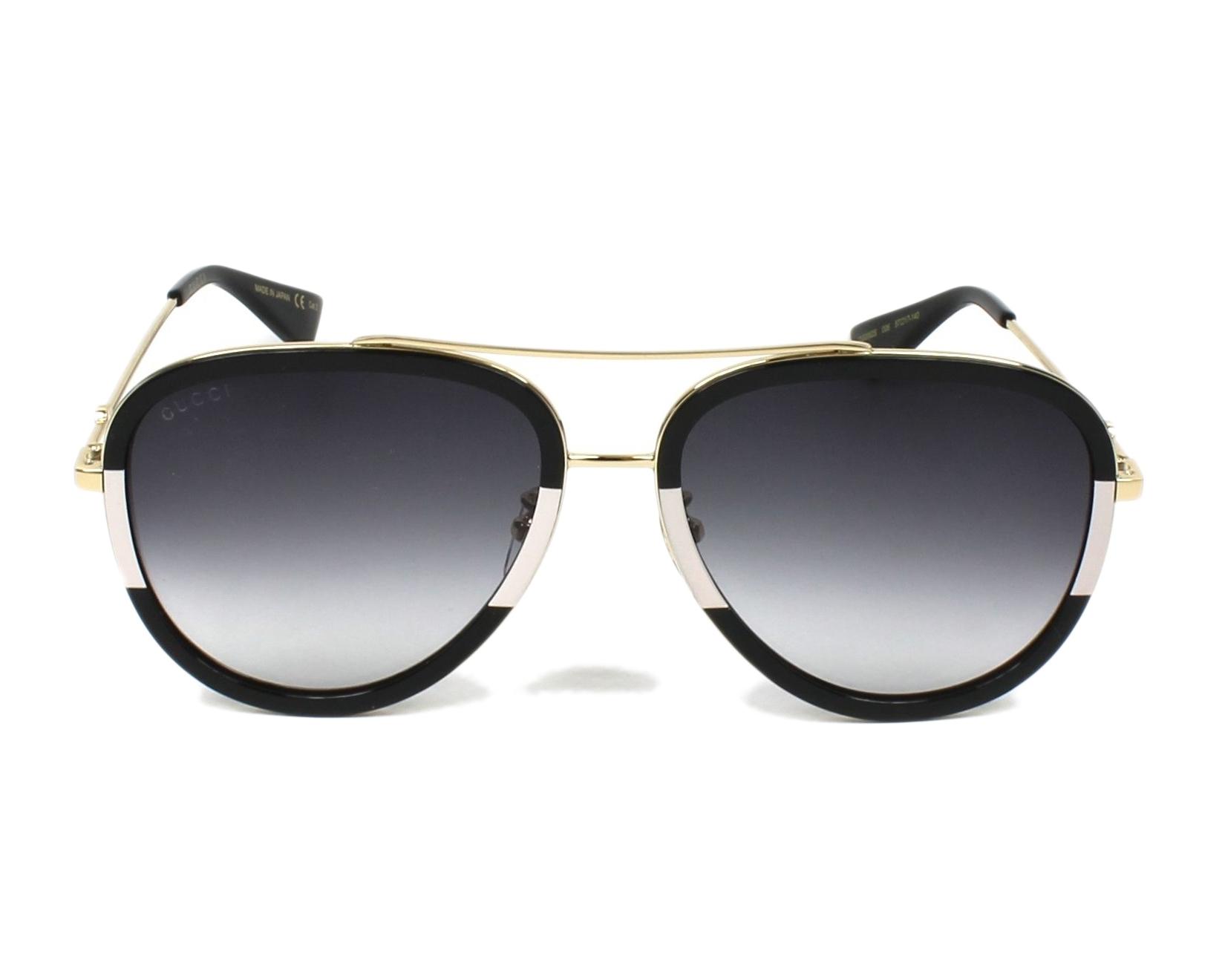 8d95a8d2bed Gafas de sol Gucci GG-0062-S 006 - Negra Blanco vista de frente