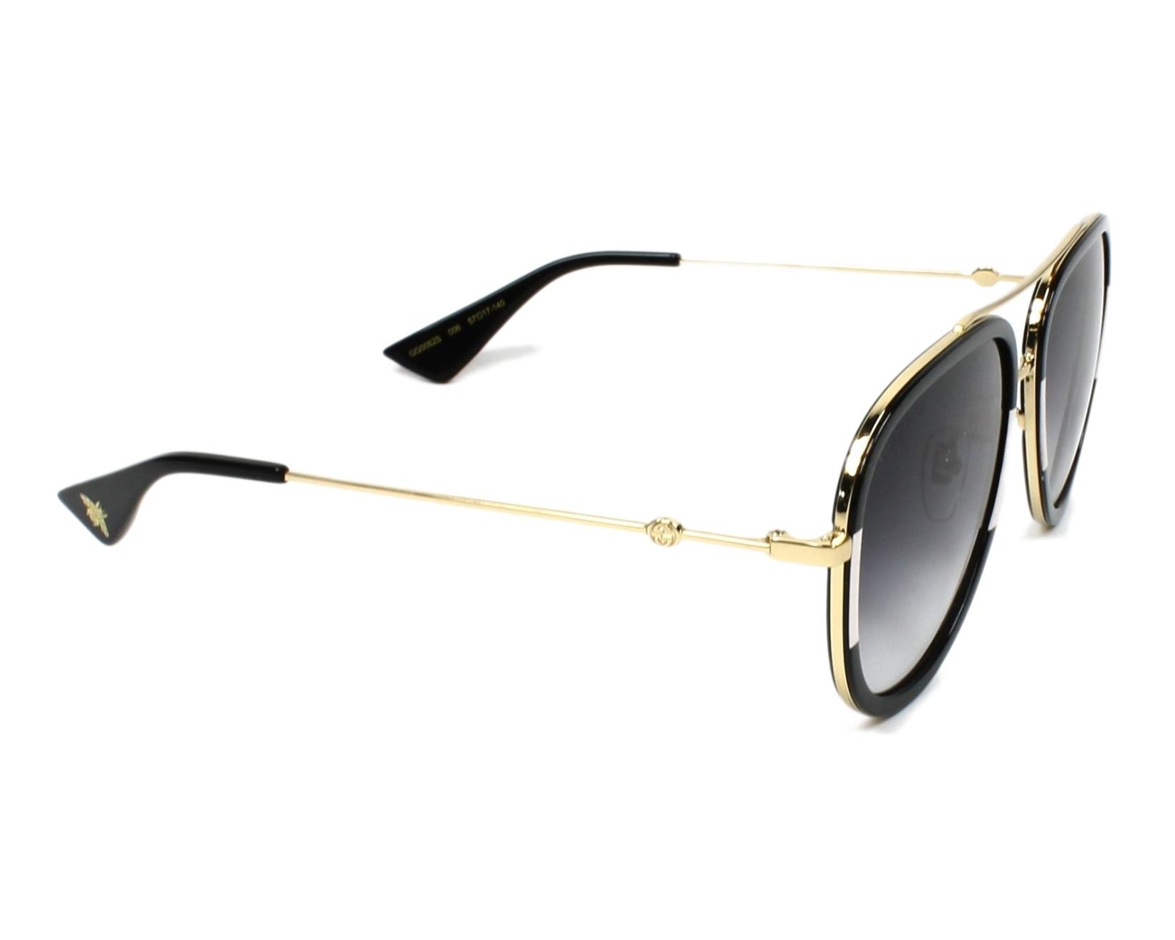 6b028ffc4aa Gafas de sol Gucci GG-0062-S 006 - Negra Blanco vista lateral