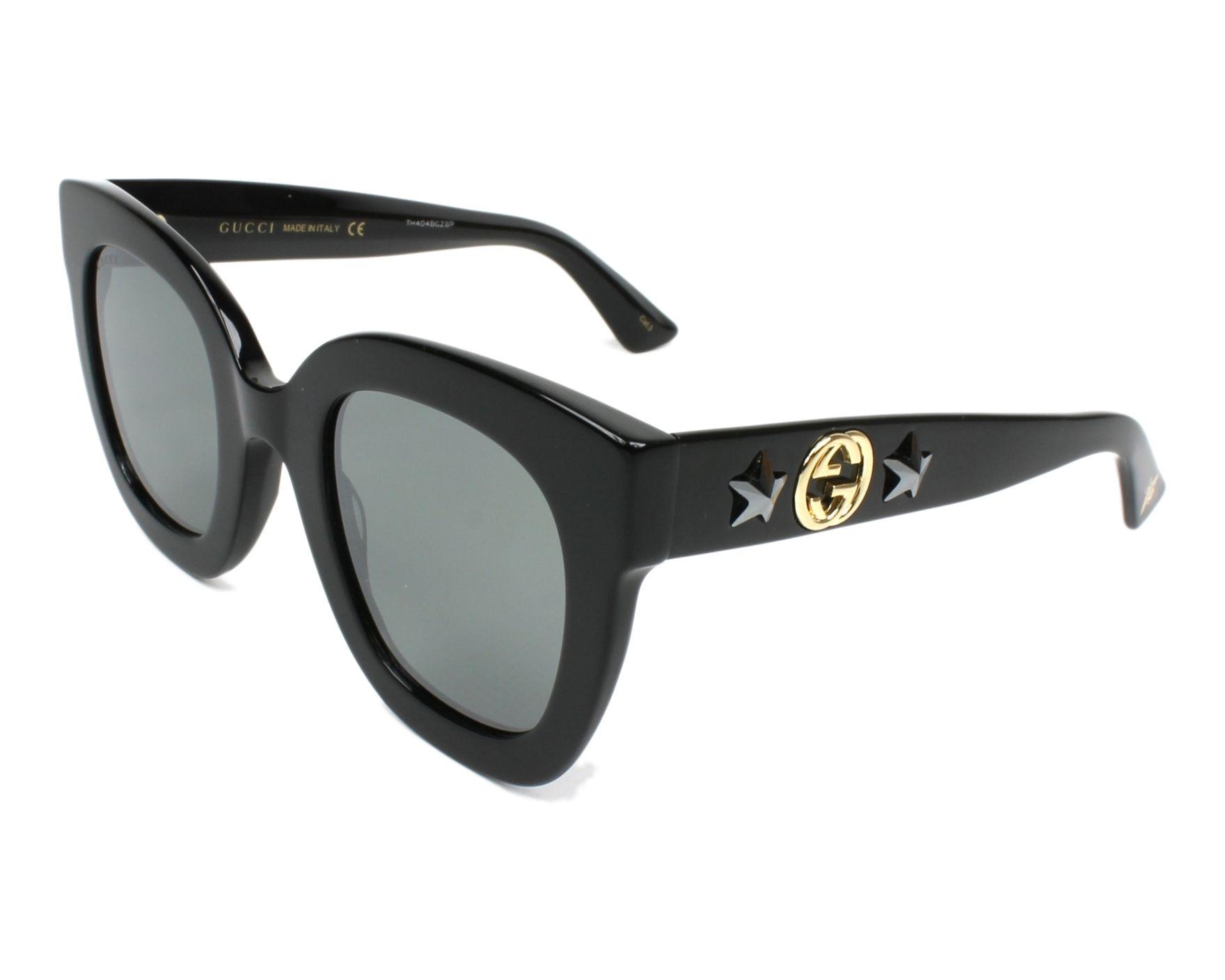 08382d641be Gafas de sol Gucci GG-0208-S 002 49-28 Negra vista de