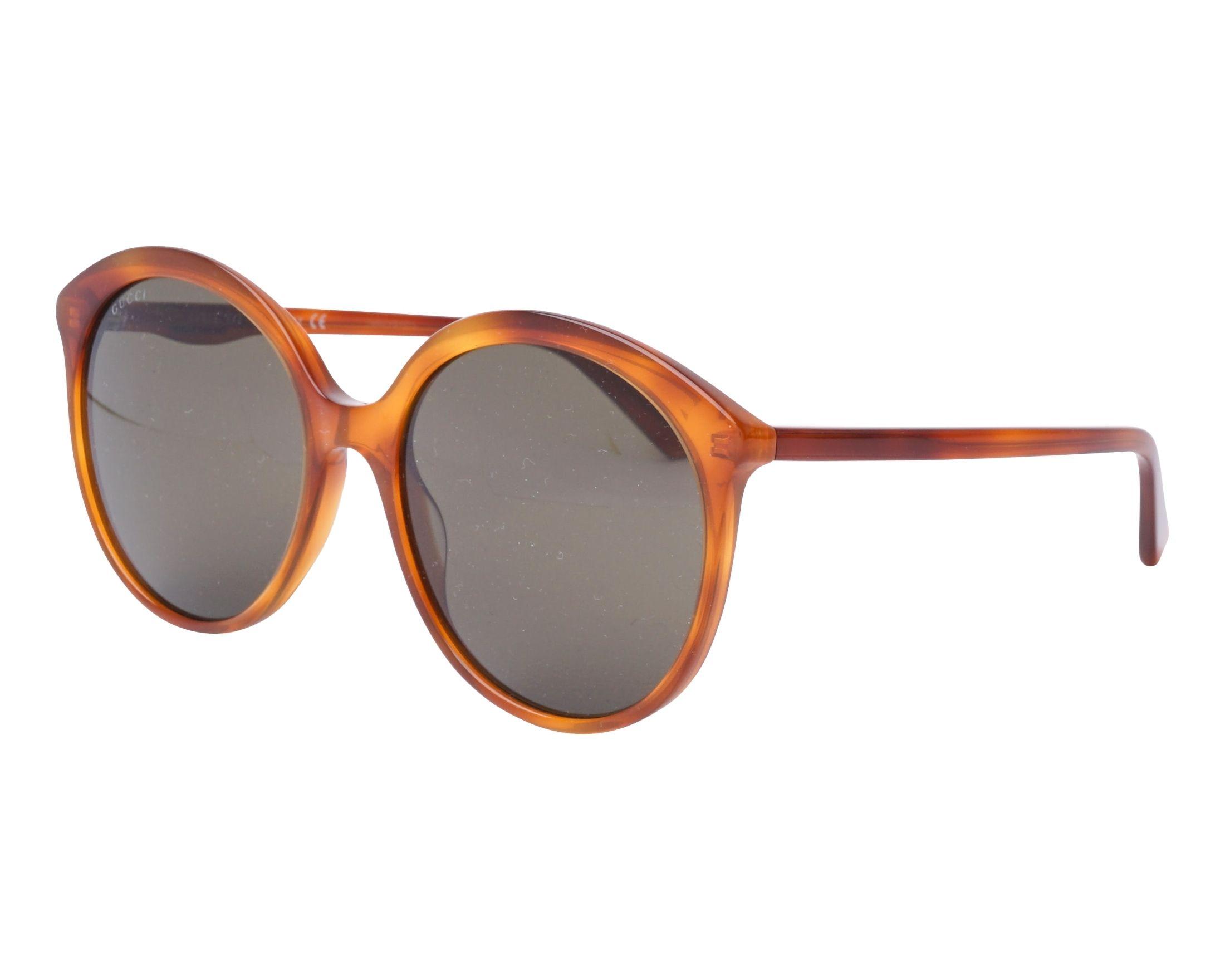 276d6578d22 Gafas de sol Gucci GG-0257-S 002 59-19 Havana vista de