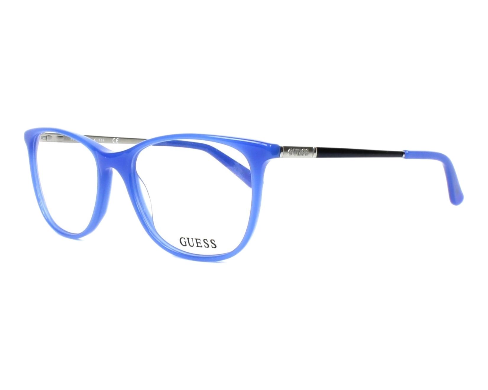 349c01baf1 Gafas Graduadas Guess GU-2566 084 49-17 Azul Plata vista de perfil