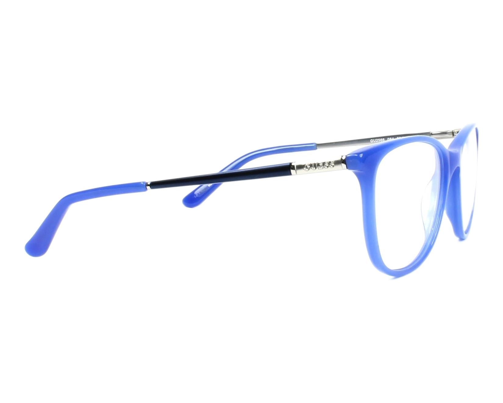 5ff4e955db Gafas Graduadas Guess GU-2566 084 49-17 Azul Plata vista lateral