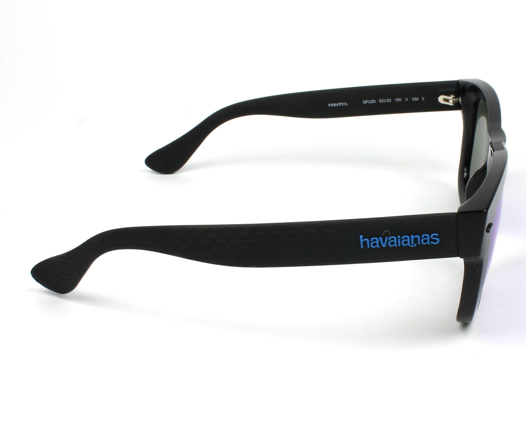28684eed51 previsualización Gafas de sol Havaianas PARATY-L QFU/Z0 - Negra Negra vista  lateral