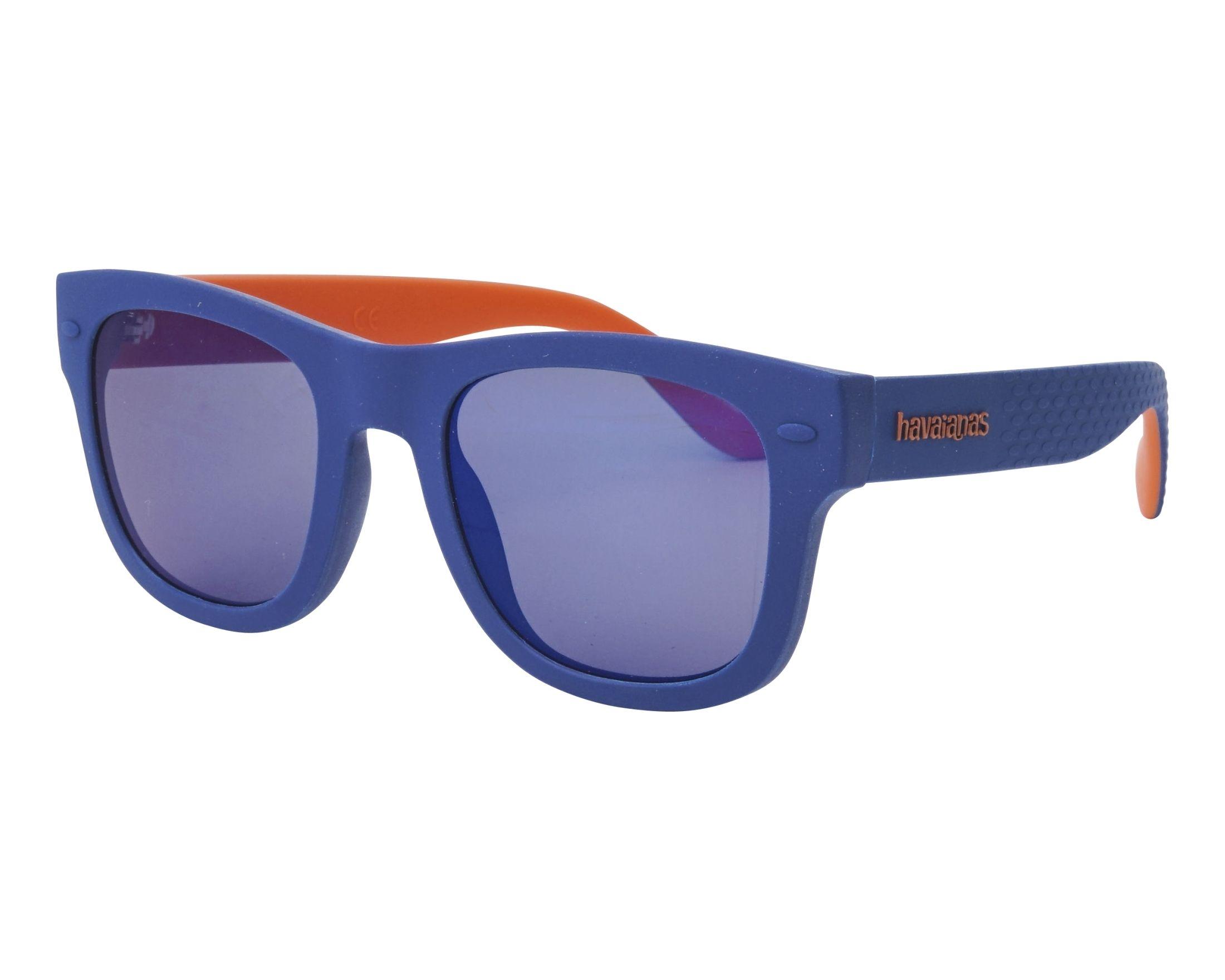832b9e8537b16 Gafas de sol Havaianas PARATY-M RTCXT 50-21 Azul Naranja vista de perfil