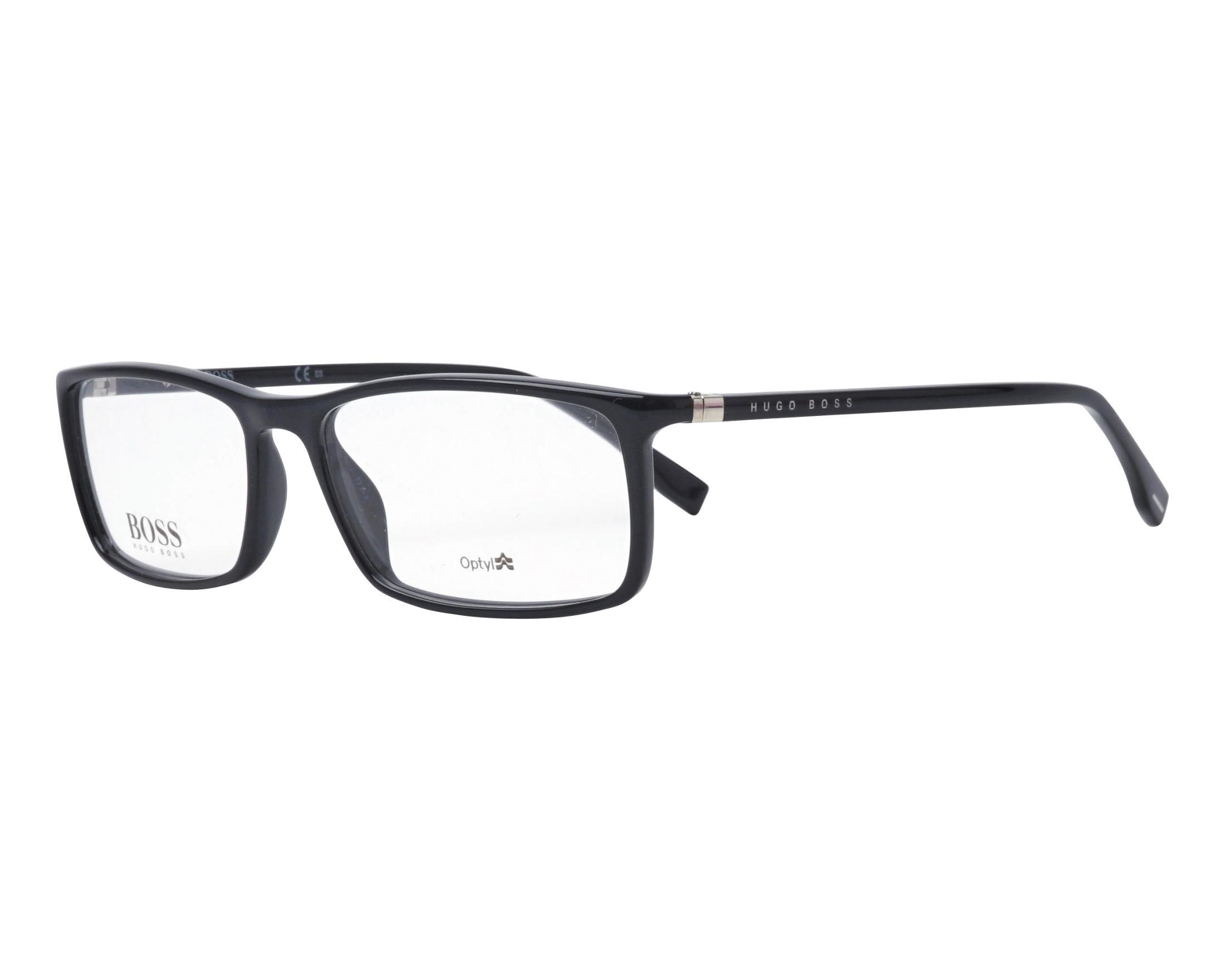 d84697d2c Gafas Graduadas Hugo Boss BOSS-0680 807 55-16 Negra vista de perfil