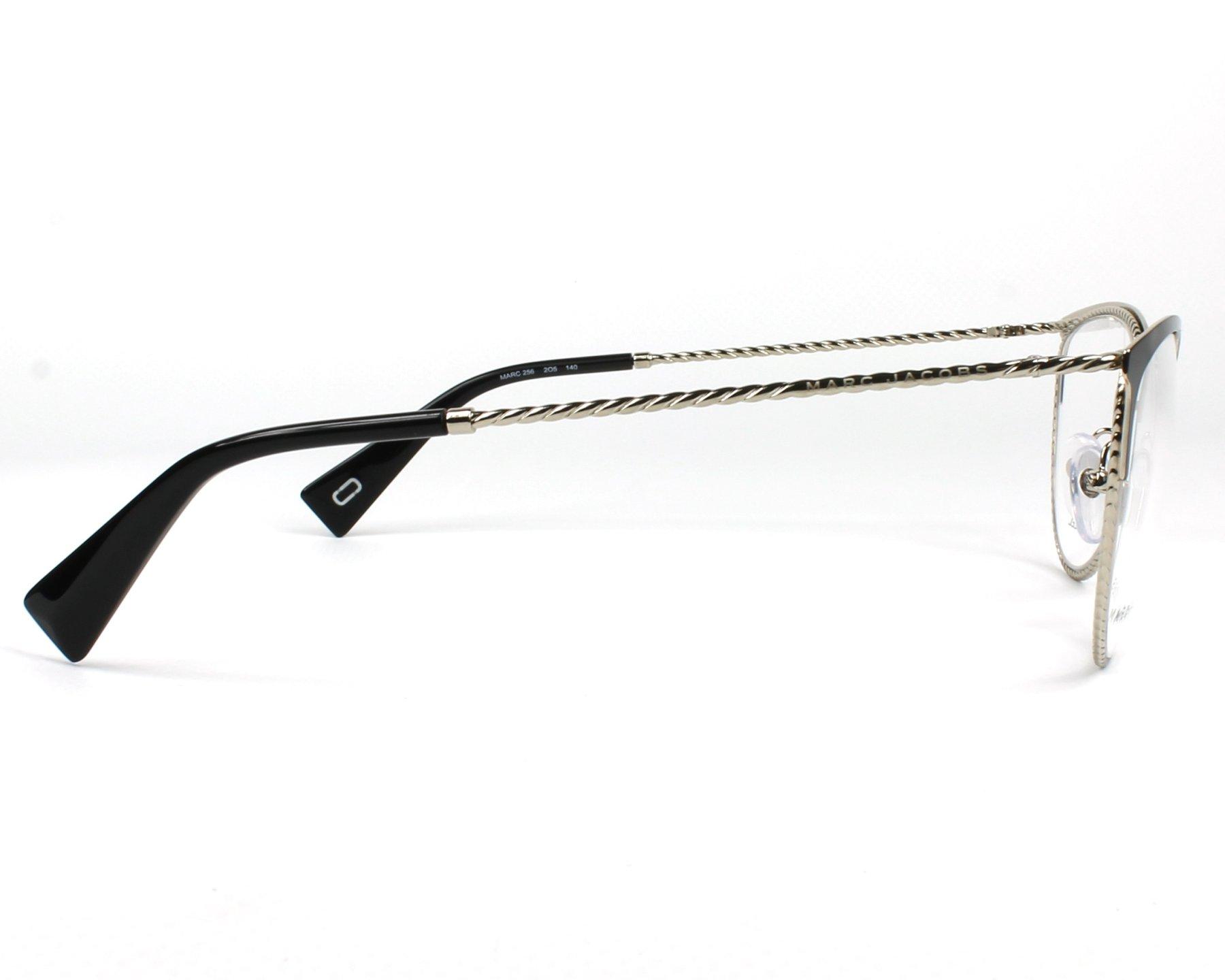 9d079e932cee7 Gafas Graduadas Marc Jacobs MARC-256 2O5 53-18 Negra Plata vista lateral