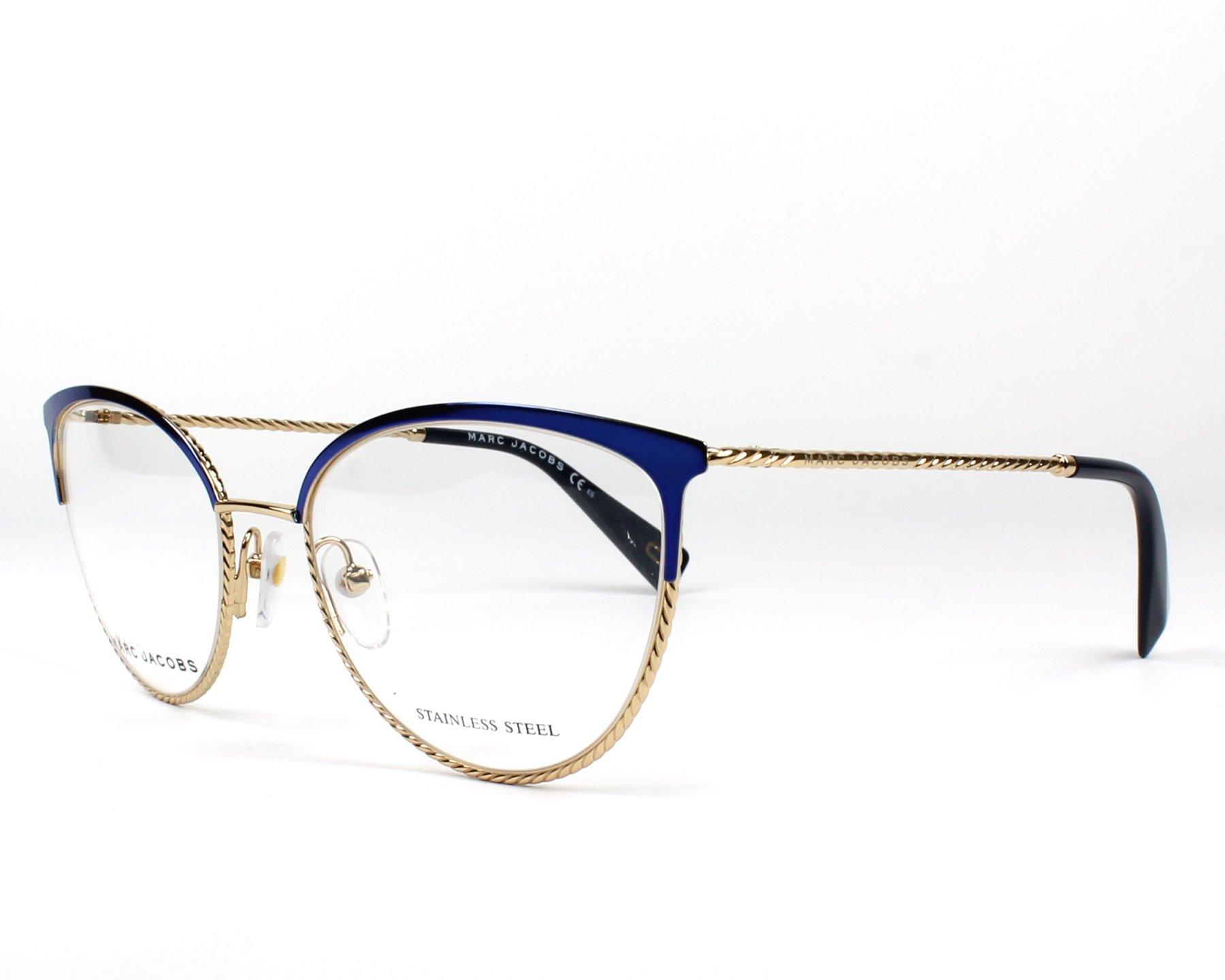 793e9b49d6c59 Gafas Graduadas Marc Jacobs MARC-256 PJP 53-18 Azul Oro vista de perfil