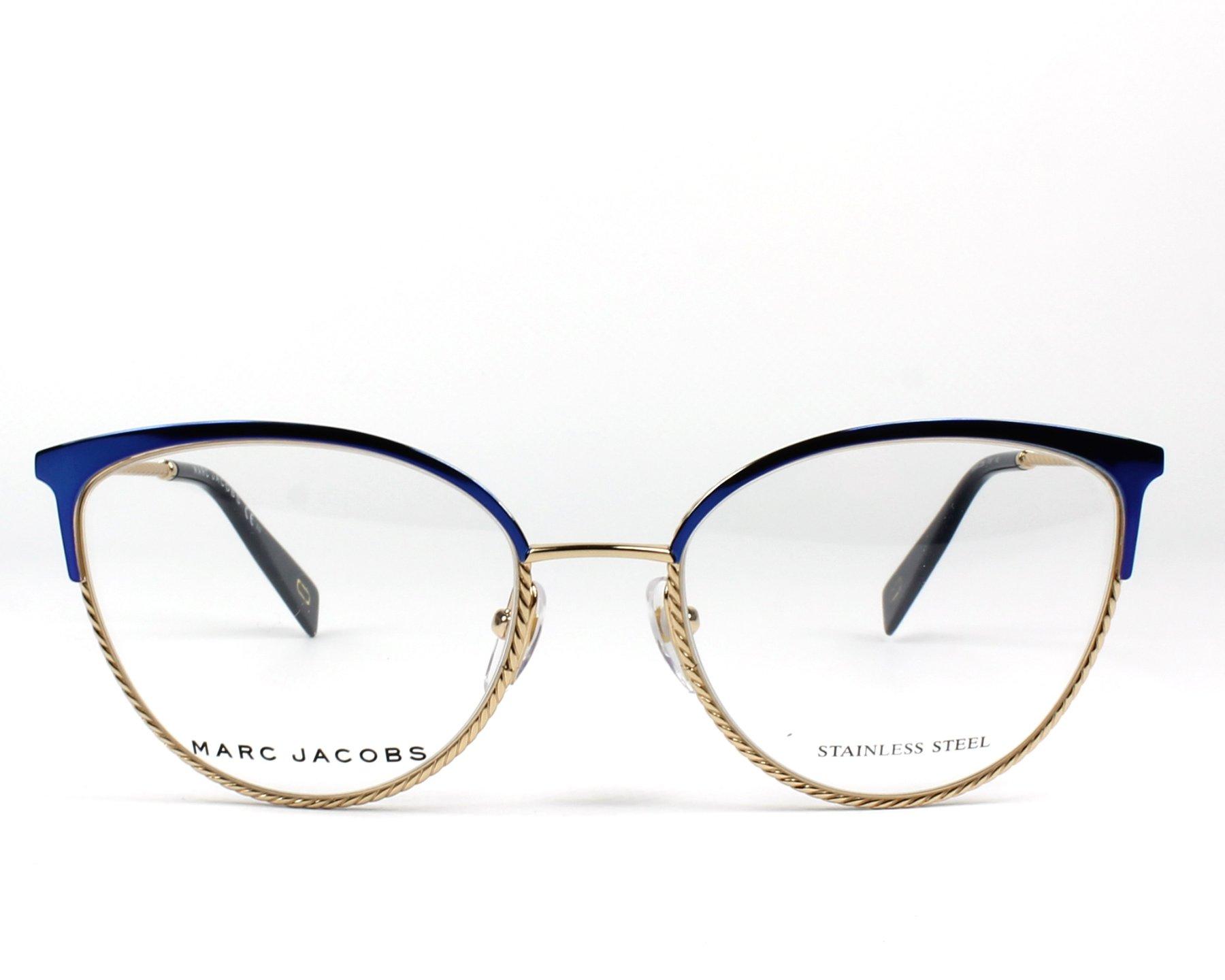1c46c3bbcb90f Gafas Graduadas Marc Jacobs MARC-256 PJP 53-18 Azul Oro vista de frente