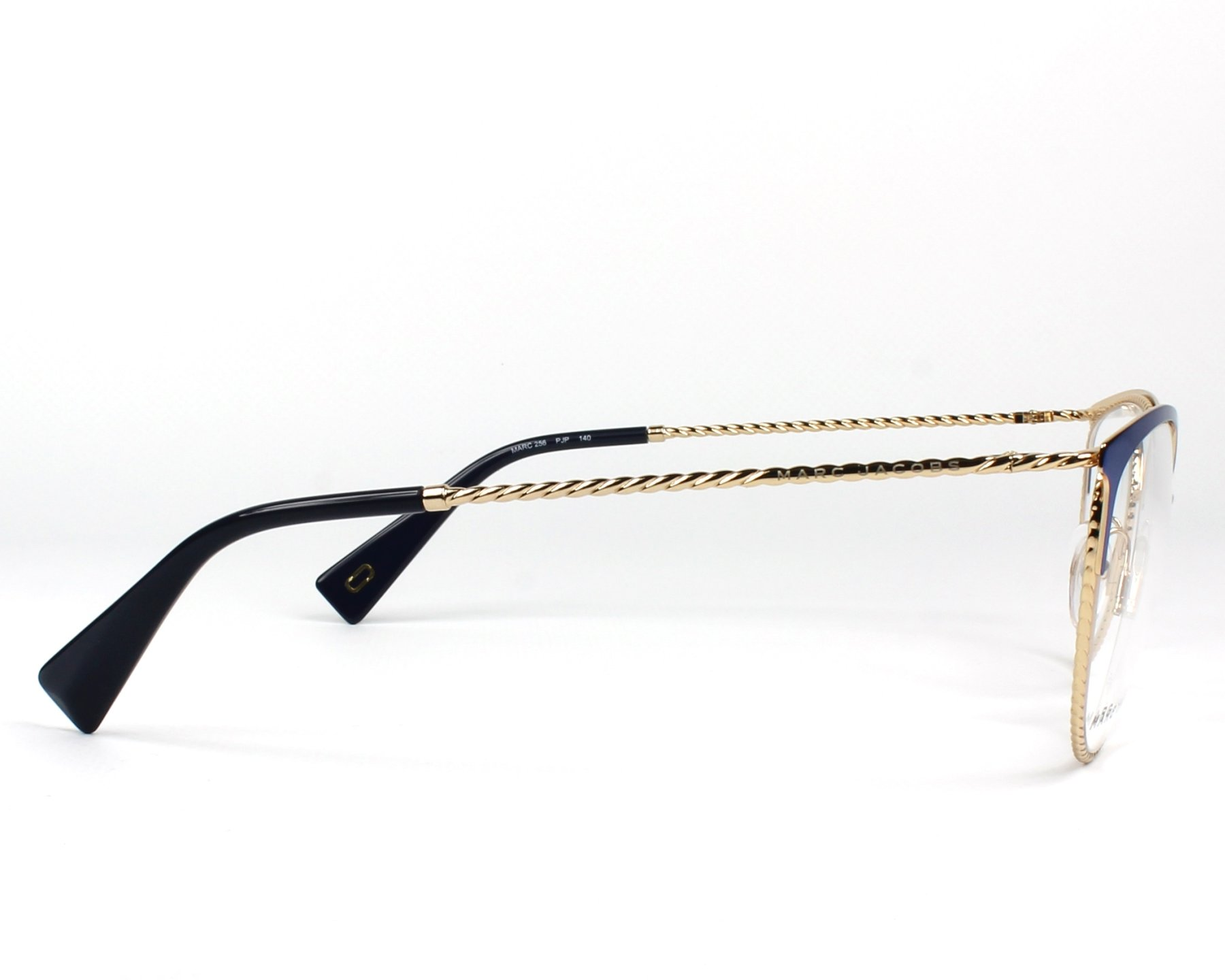 71e6d35be017e Gafas Graduadas Marc Jacobs MARC-256 PJP 53-18 Azul Oro vista lateral