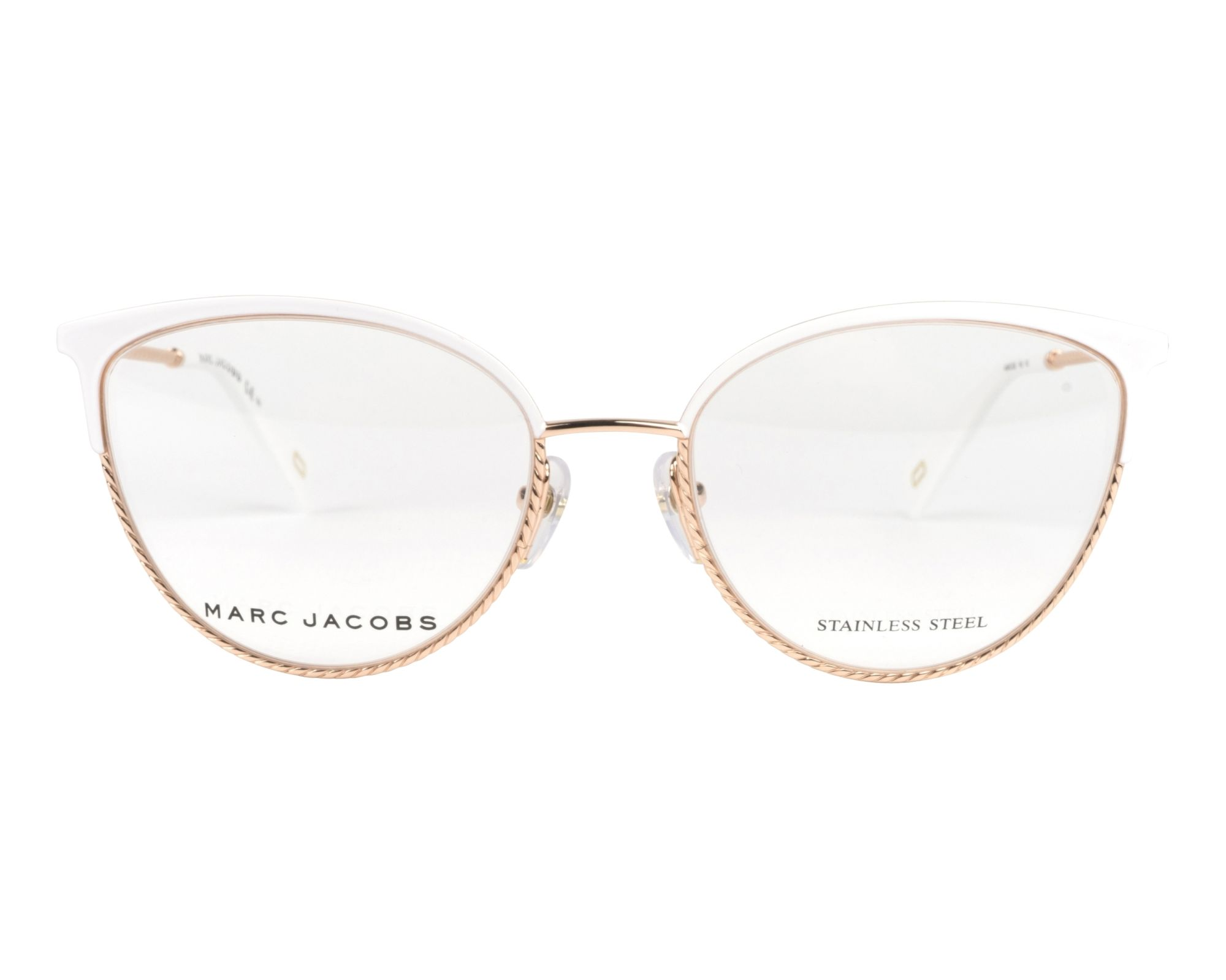 7cf6293bc8679 Gafas Graduadas Marc Jacobs MARC-256 VK6 53-18 Blanco Oro cobre vista de