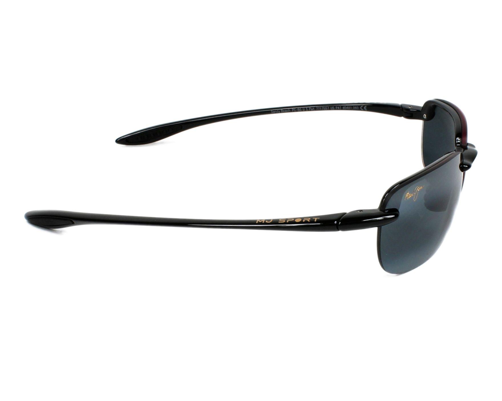 0f9519a510 Gafas de sol Maui Jim 408 02 56-15 Negra vista lateral
