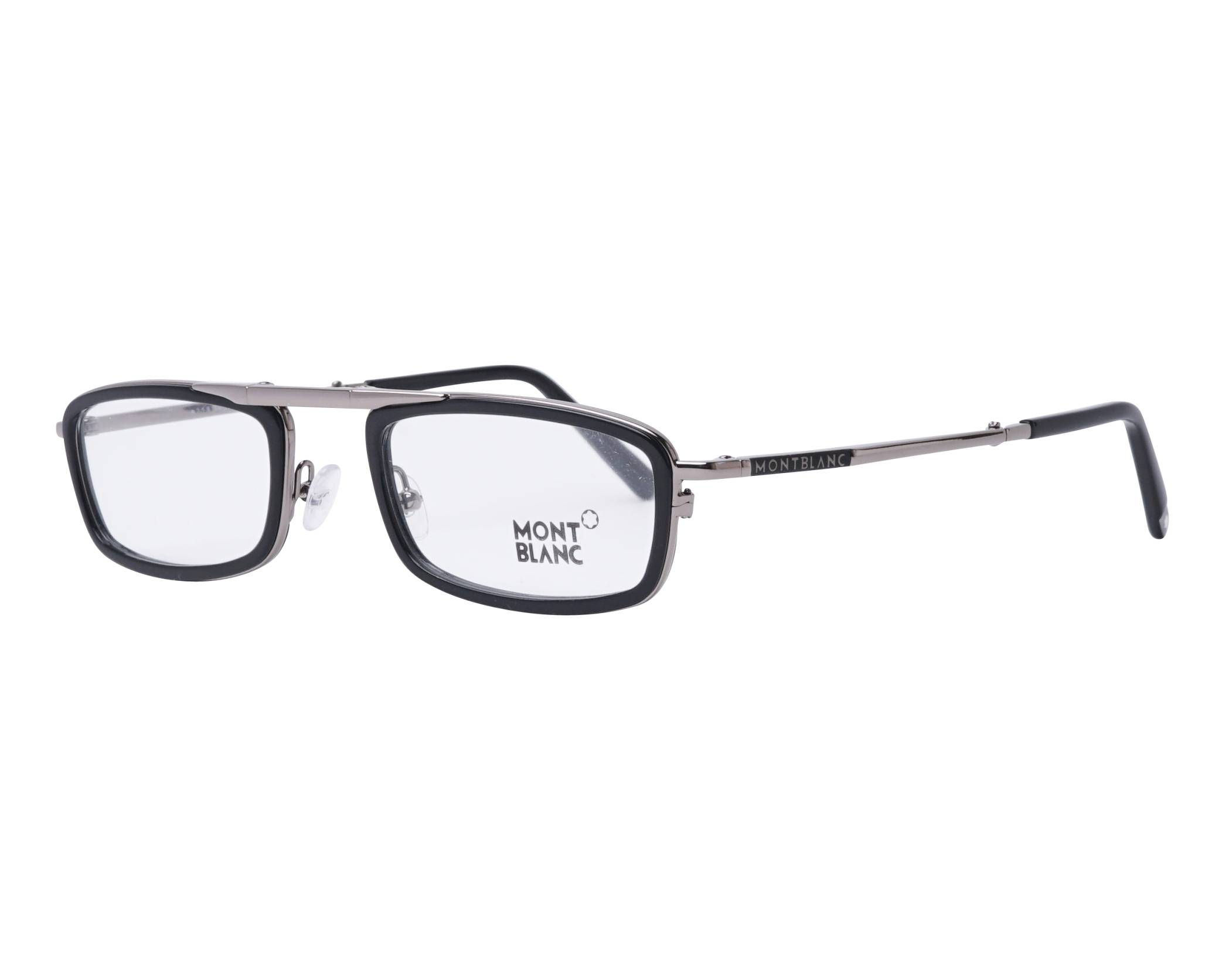 8e22c19113 Gafas Graduadas Mont Blanc MB-0682 001 53-22 Negra Ruthenium vista de perfil