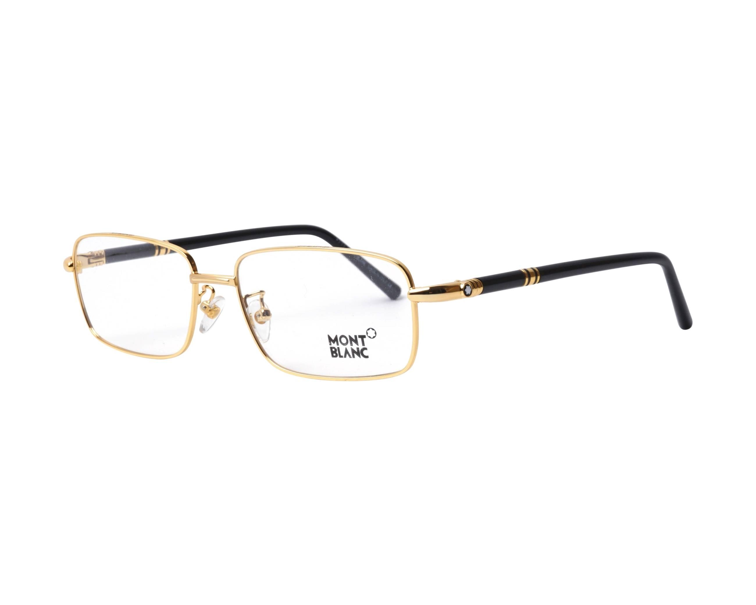 4906cb78c7 Gafas Graduadas Mont Blanc MB-475-U 030 58-17 Oro Negra vista