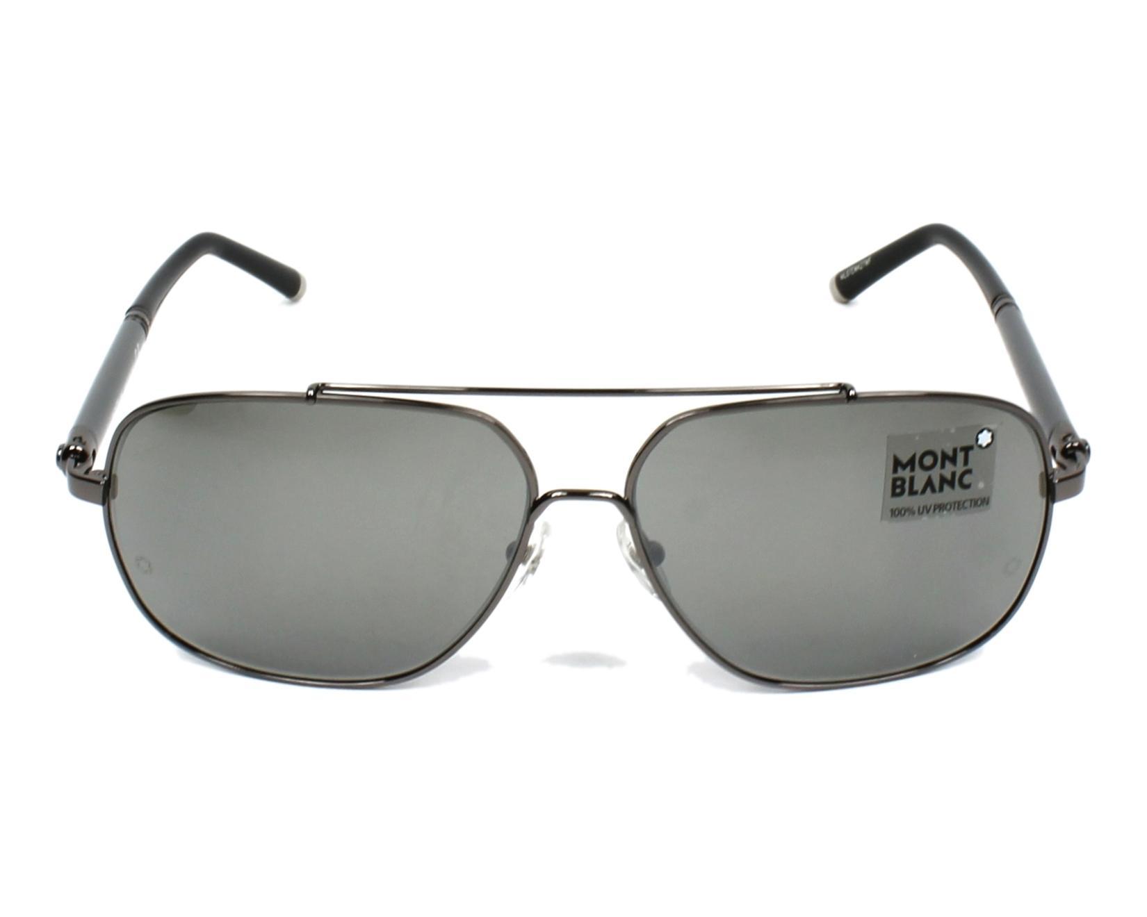 e1fc68d559 Gafas de sol Mont Blanc MB-514-S 08A - Gun Gris vista de