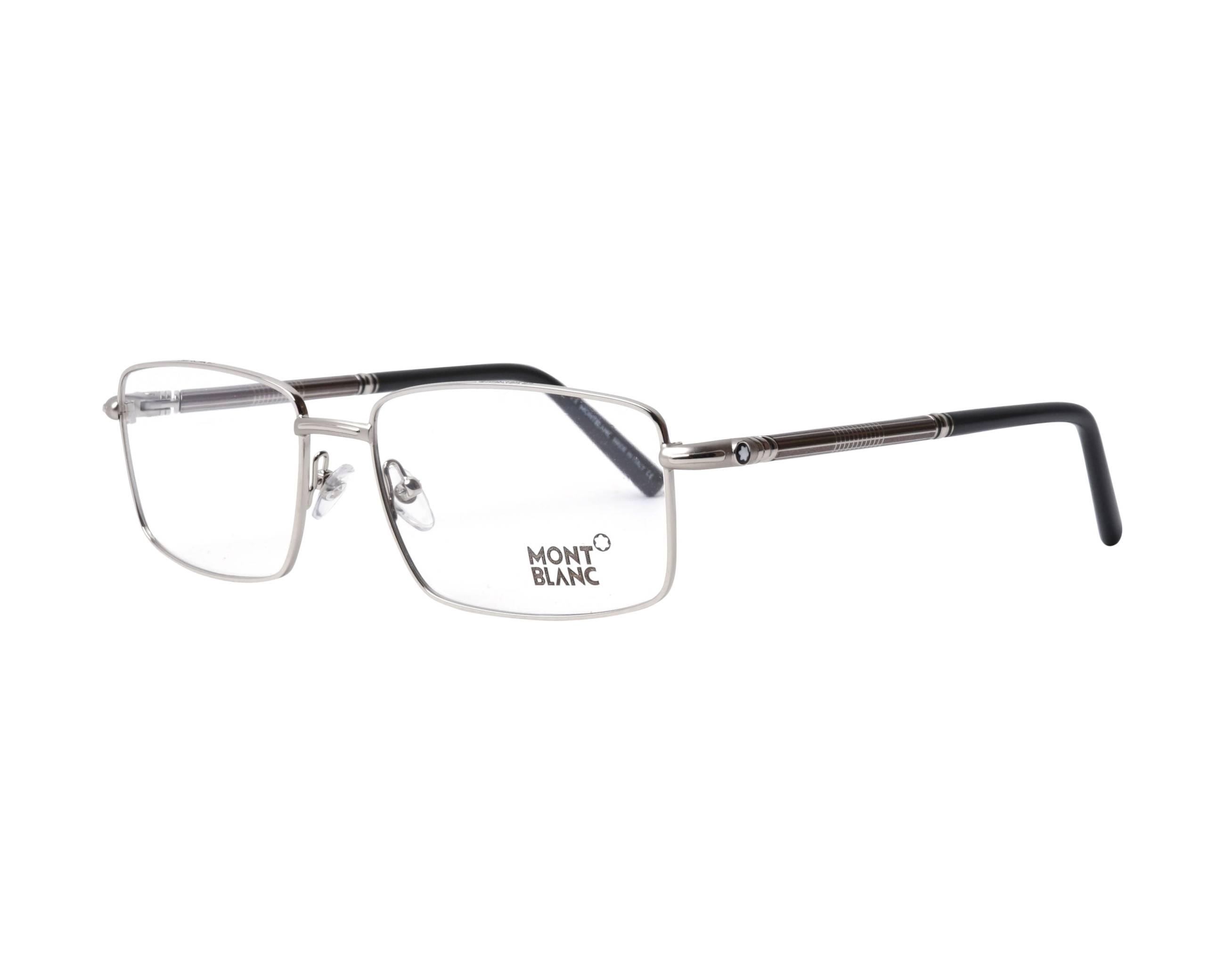 d02ab2b48d Gafas Graduadas Mont Blanc MB-531 016 56-17 Plata Gris vista de perfil