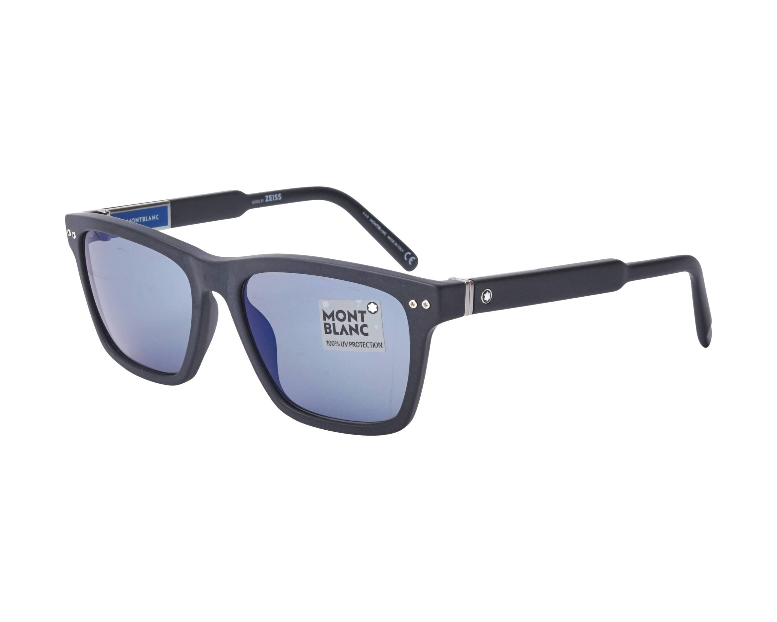 e718b8f6a6 Gafas de sol Mont Blanc MB-694-S 02X 56-17 Negra vista