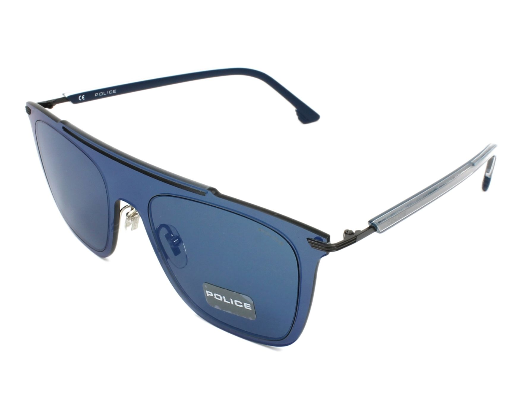 2e356ad96a Gafas de sol Police SPL-581 627B 52-20 Gun Azul vista de perfil