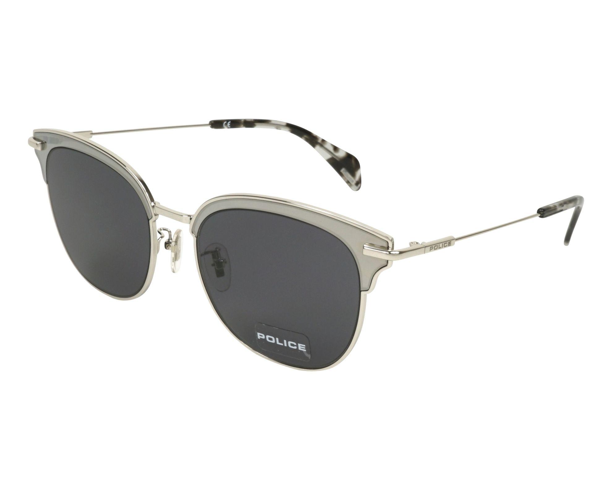 cbc336a5c8 Gafas de sol Police SPL-622 0579 53-19 Plata vista de perfil