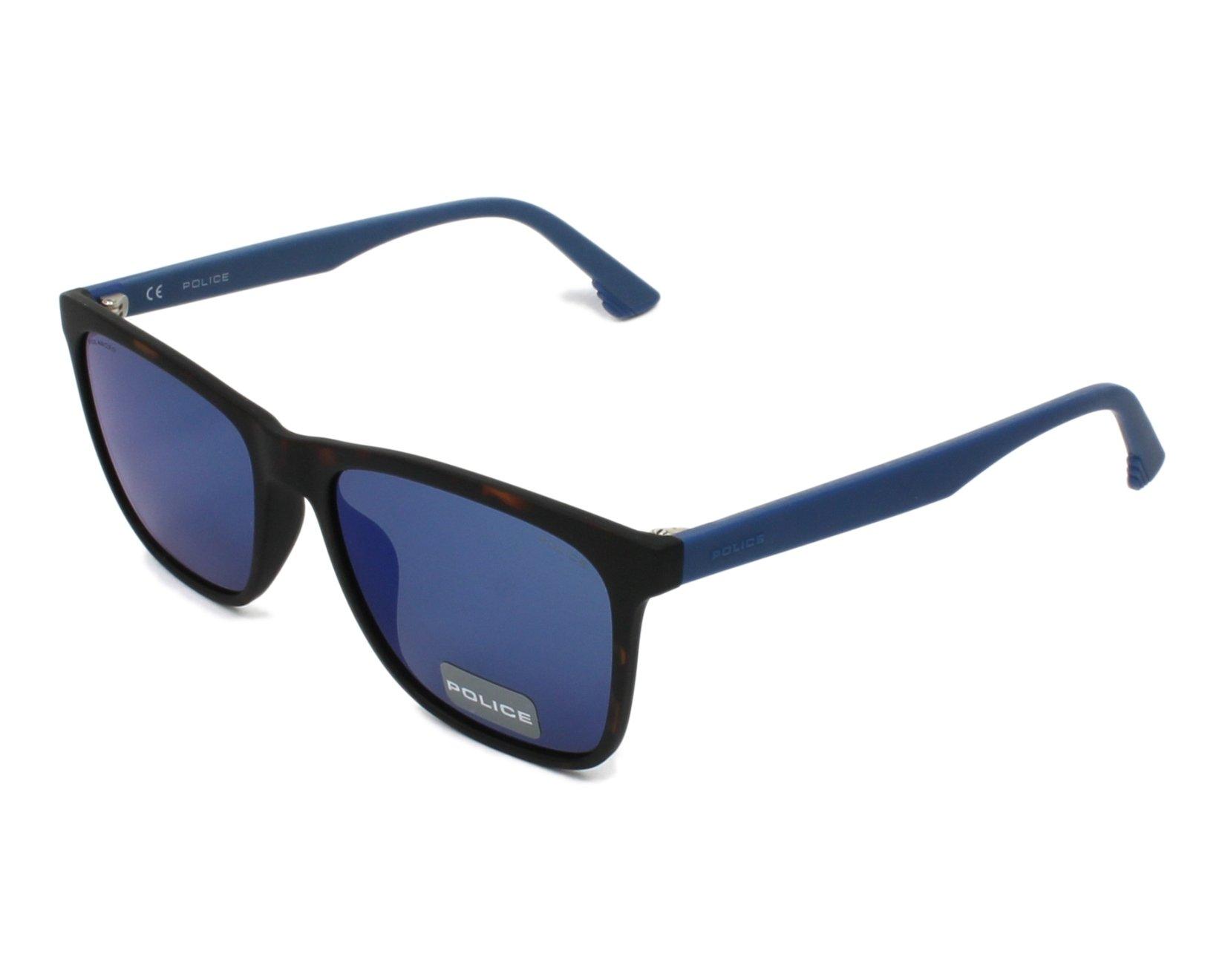 a4cd3c48bb Gafas de sol Police SPL-633 7VEP 55-17 Havana Azul vista de perfil