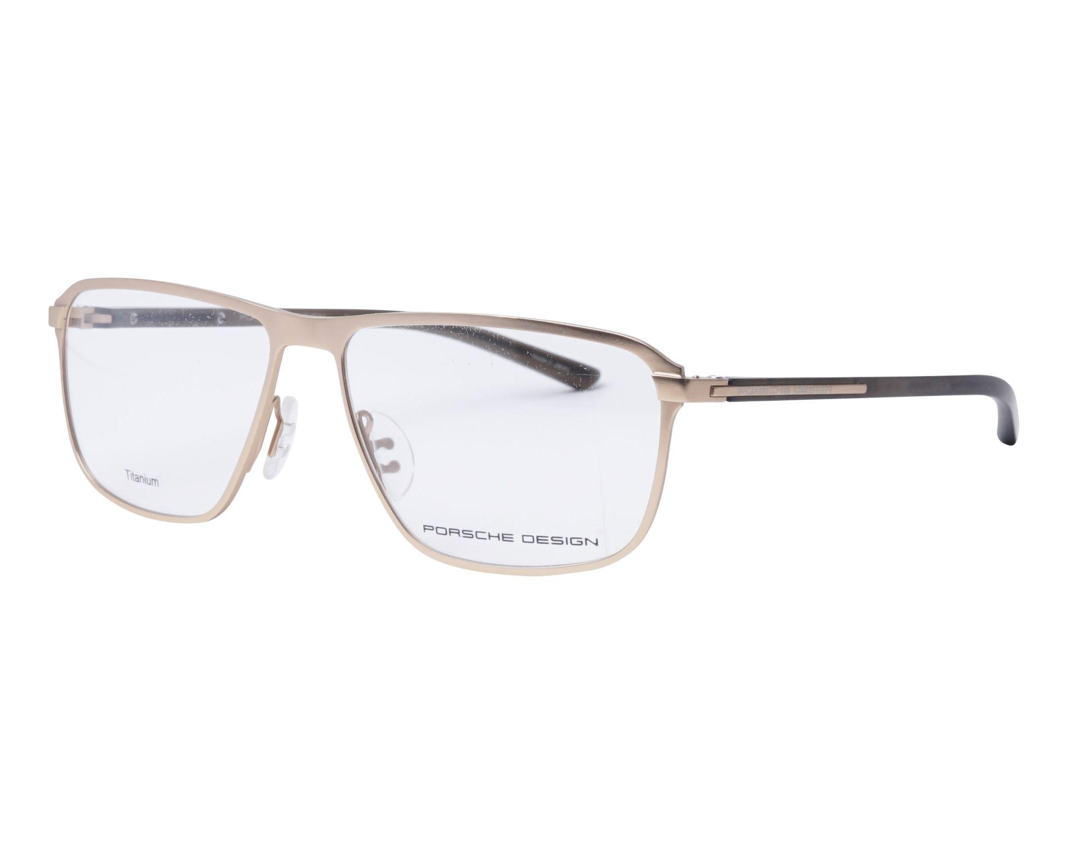 0d70ec1726 Gafas Graduadas Porsche Design P-8285 B 56-14 Oro Gris vista de perfil