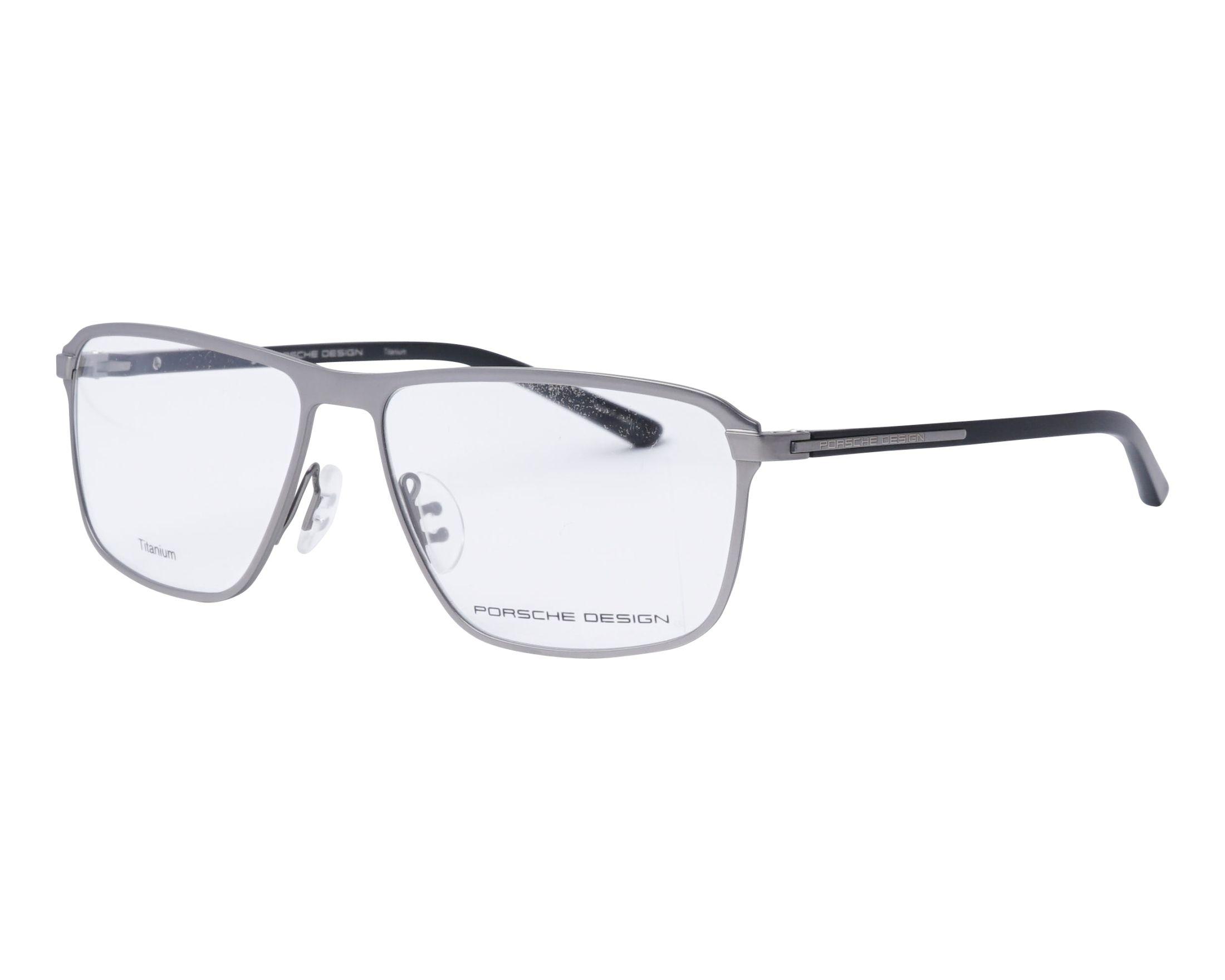 2a3578f226 Gafas Graduadas Porsche Design P-8285 C 54-14 Plata Negra vista de perfil