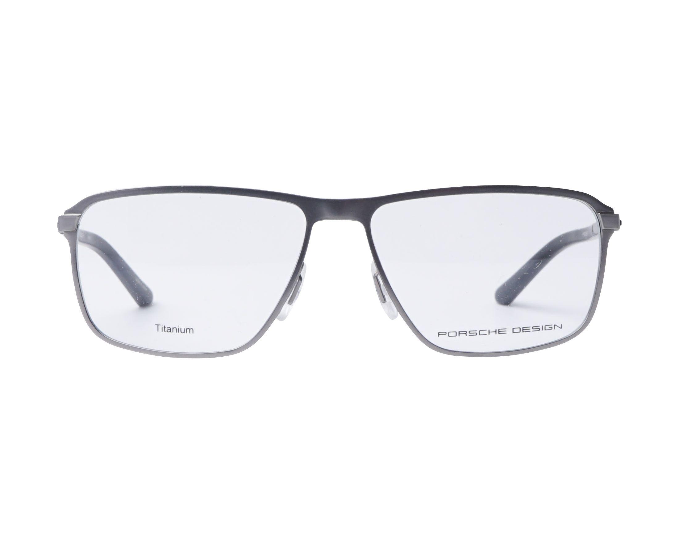 f22cab2ee8 Gafas Graduadas Porsche Design P-8285 C 54-14 Plata Negra vista de frente