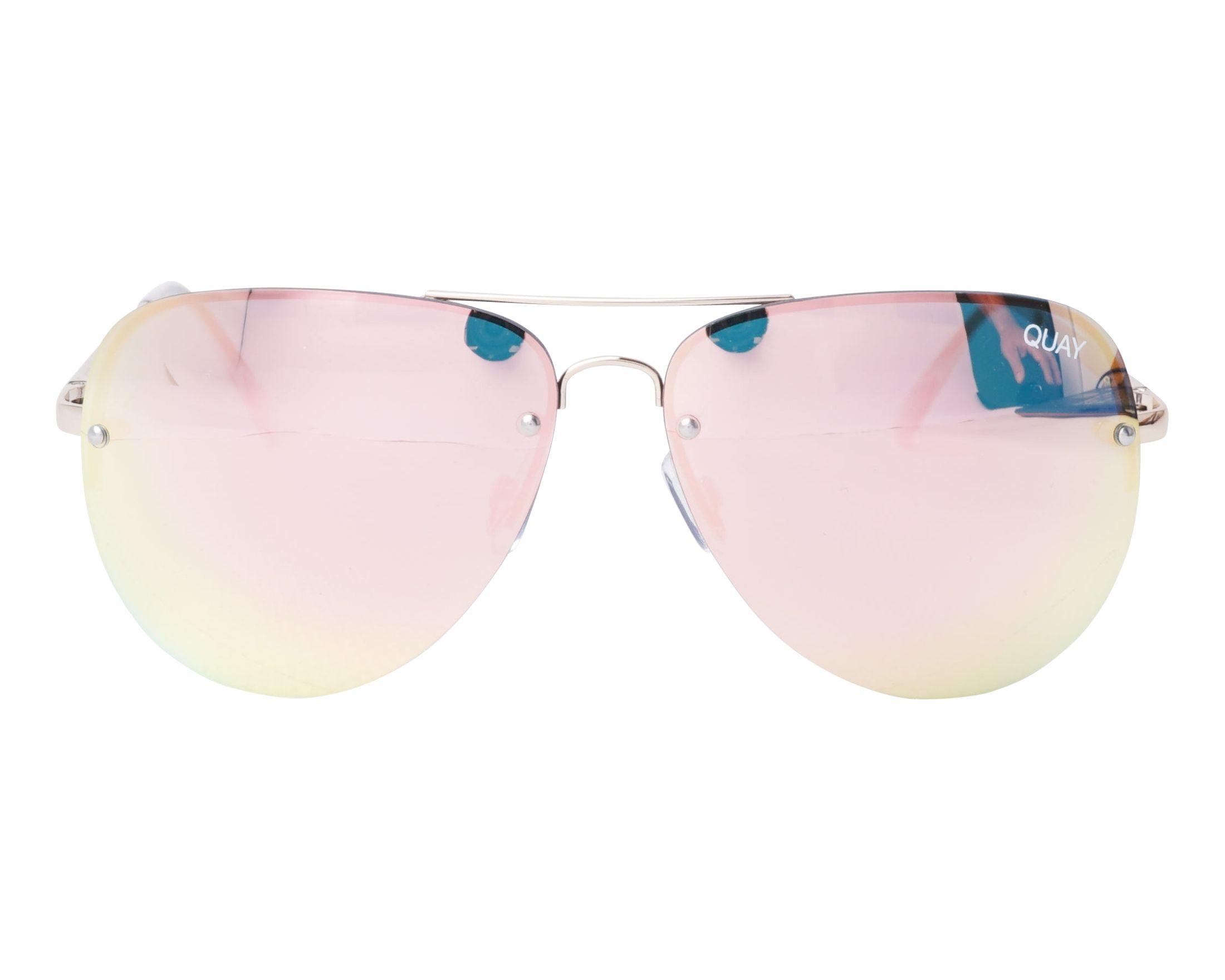 6b20674188 Gafas de sol Quay Australia QC-000064 GOLD-PNK 54-17 Oro vista