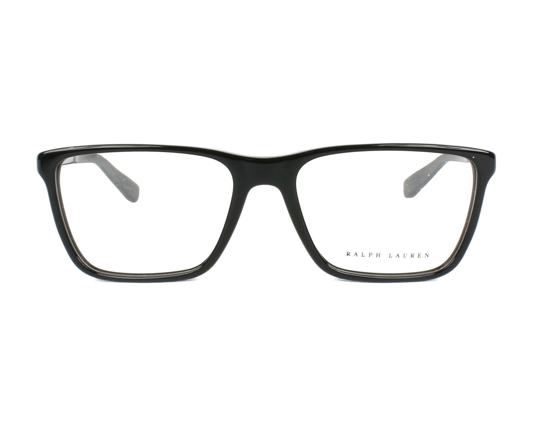 ca5b2168e6 Gafas Graduadas Ralph Lauren RL-6163 5001 53-17 Negra Carbon vista de frente
