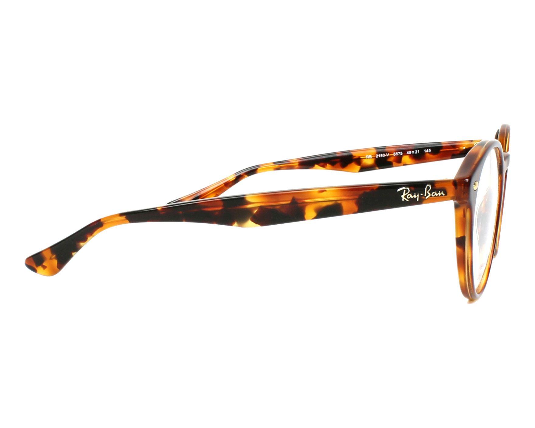 9f7009442e78b Gafas Graduadas Ray-Ban RX-2180-V 5675 47-21 Havana vista