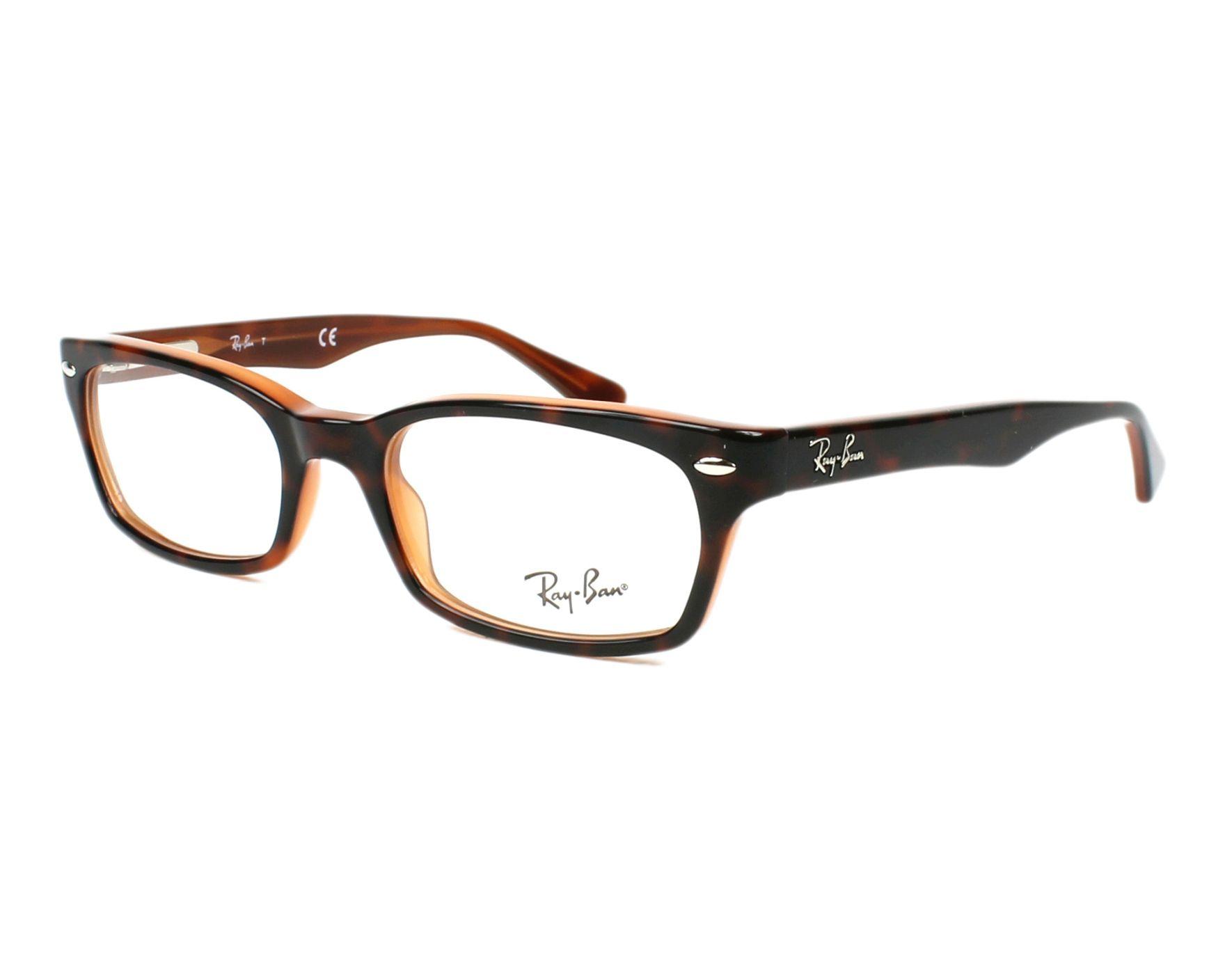 1c8f967dc3af5 Gafas Graduadas Ray-Ban RX-5150 5713 50-19 Havana Marrón vista de