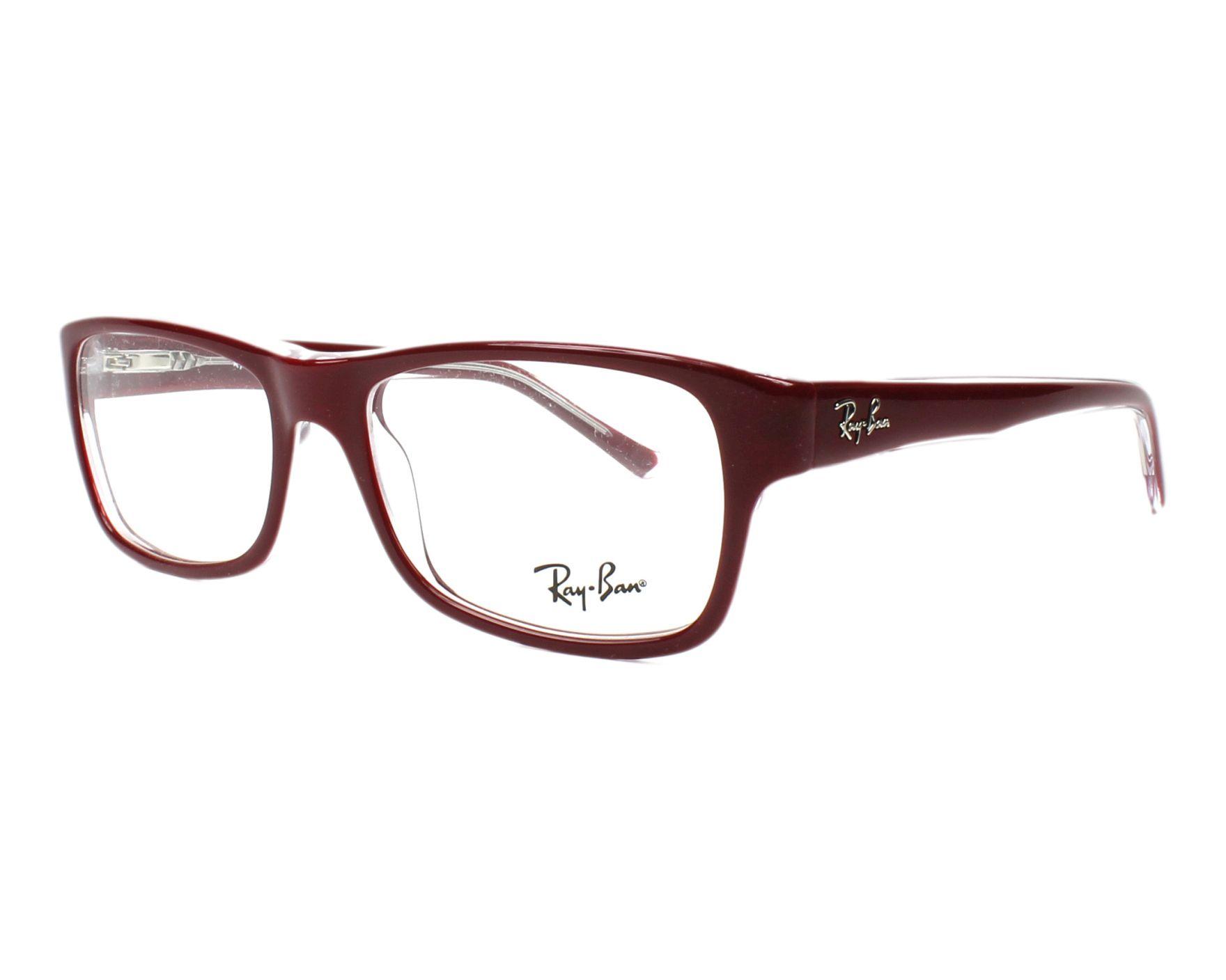 6f472846d956f Gafas Graduadas Ray-Ban RX-5268 5738 52-17 Bordeaux vista de perfil