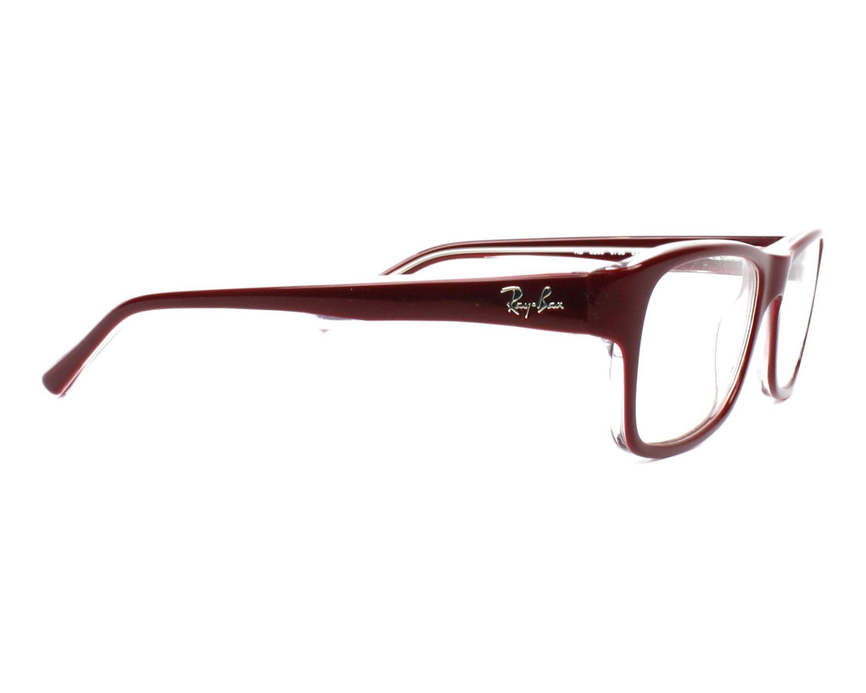d2ff973fe6059 Gafas Graduadas Ray-Ban RX-5268 5738 52-17 Bordeaux vista lateral