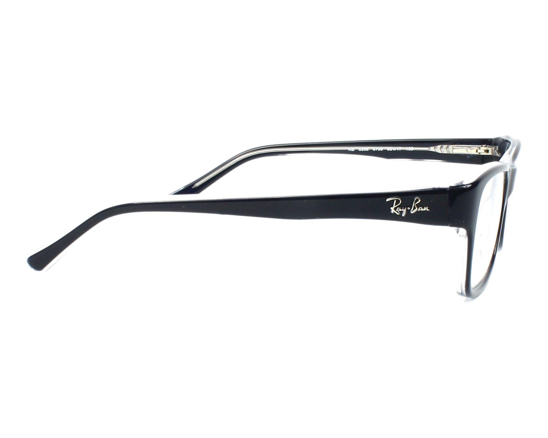 0494d1f497a0e Gafas Graduadas Ray-Ban RX-5268 5739 50-17 Azul Cristal vista lateral