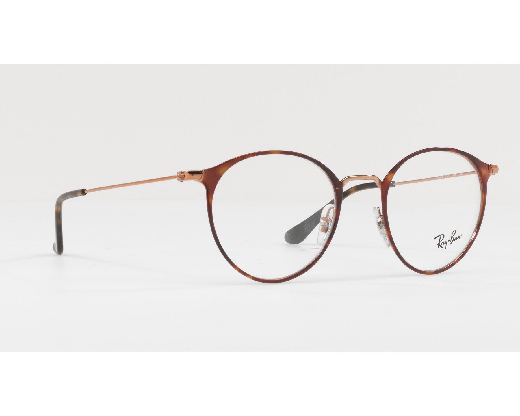Gafas Graduadas Ray-Ban RX-6378 2971 47-21 Havana Oro cobre Vista 5a8b9076a20a