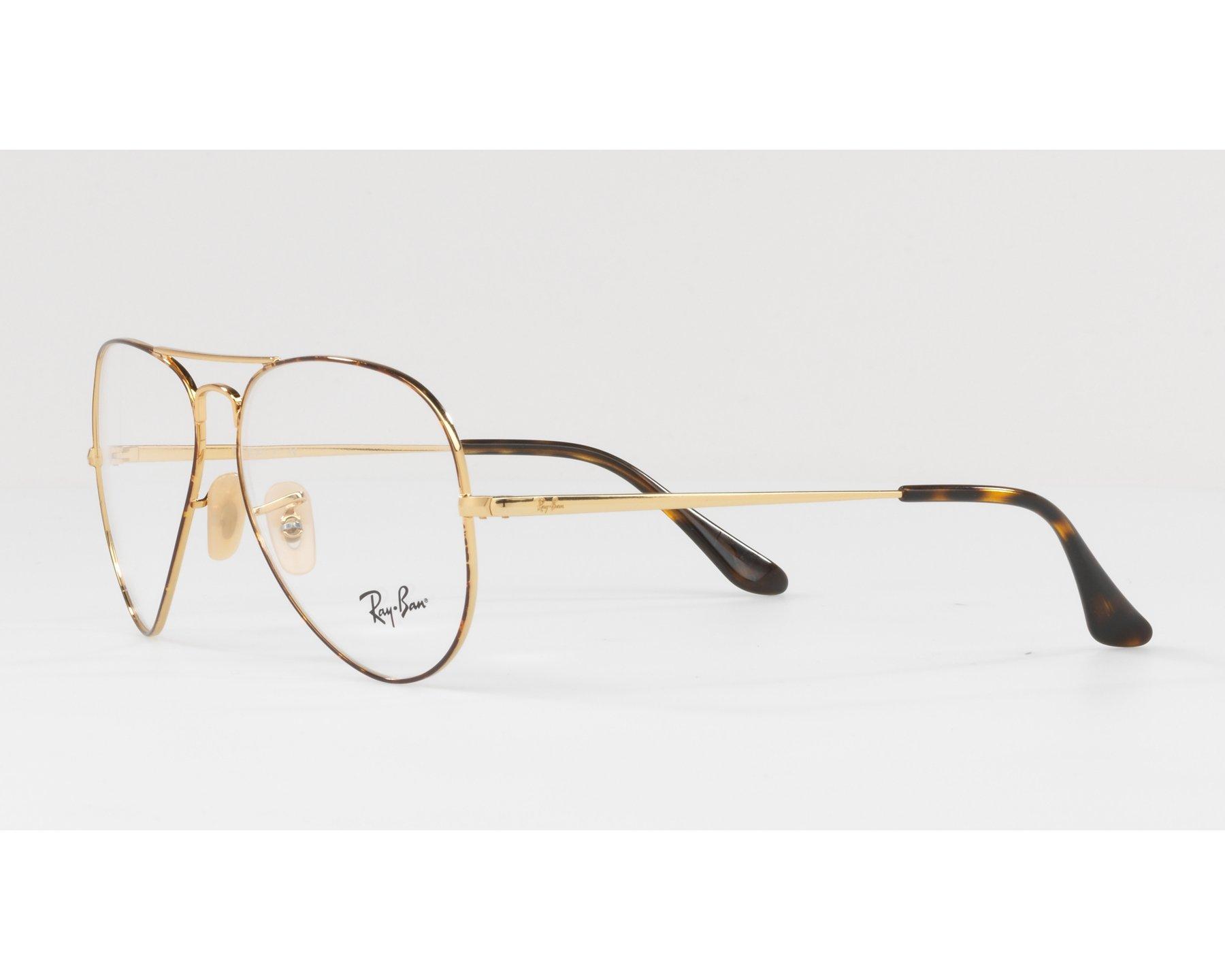 a9fafe2458 Gafas Graduadas Ray-Ban RX-6489 2945 55-14 Havana Oro Vista de