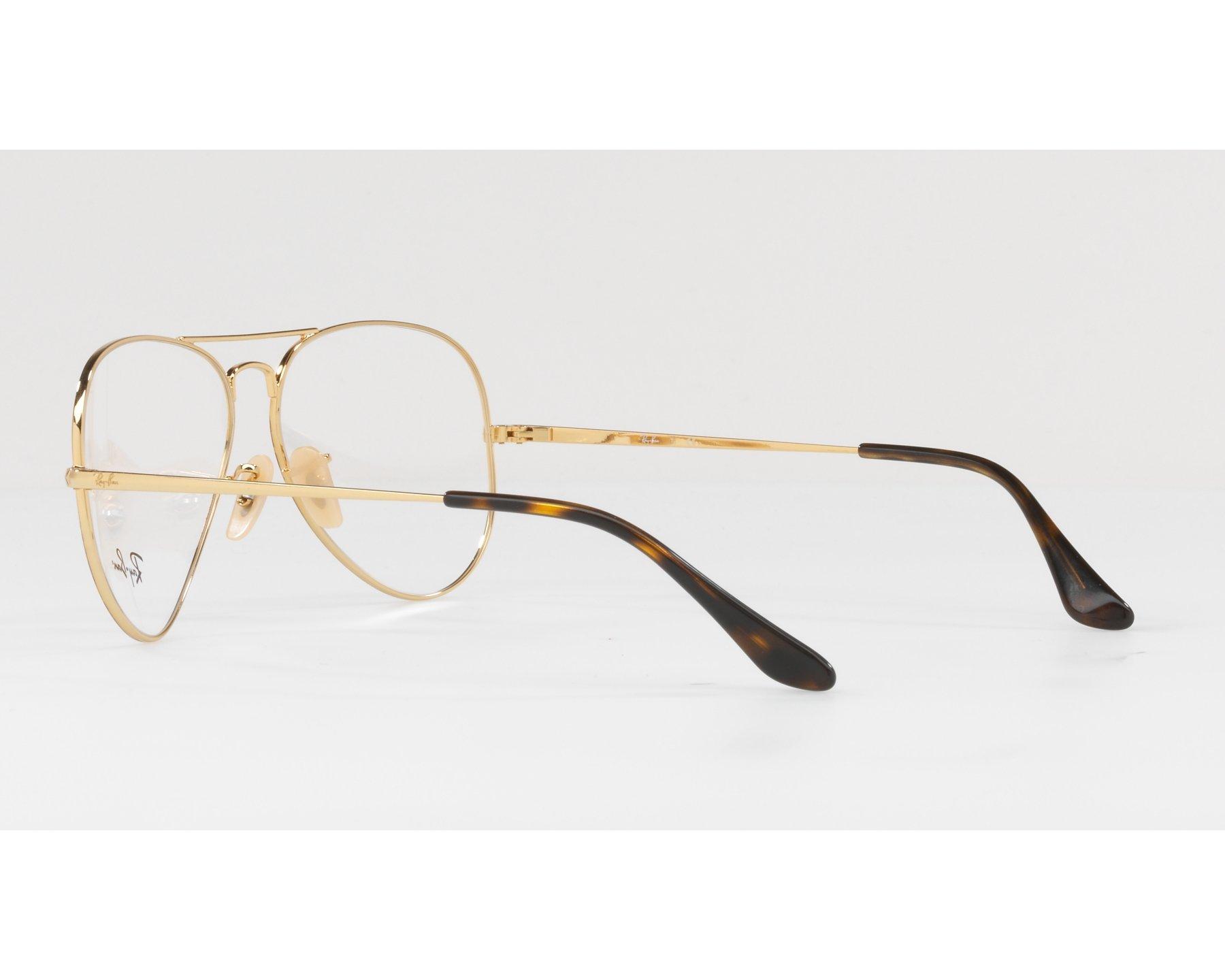 028bb3f60c Gafas Graduadas Ray-Ban RX-6489 2945 55-14 Havana Oro Vista de