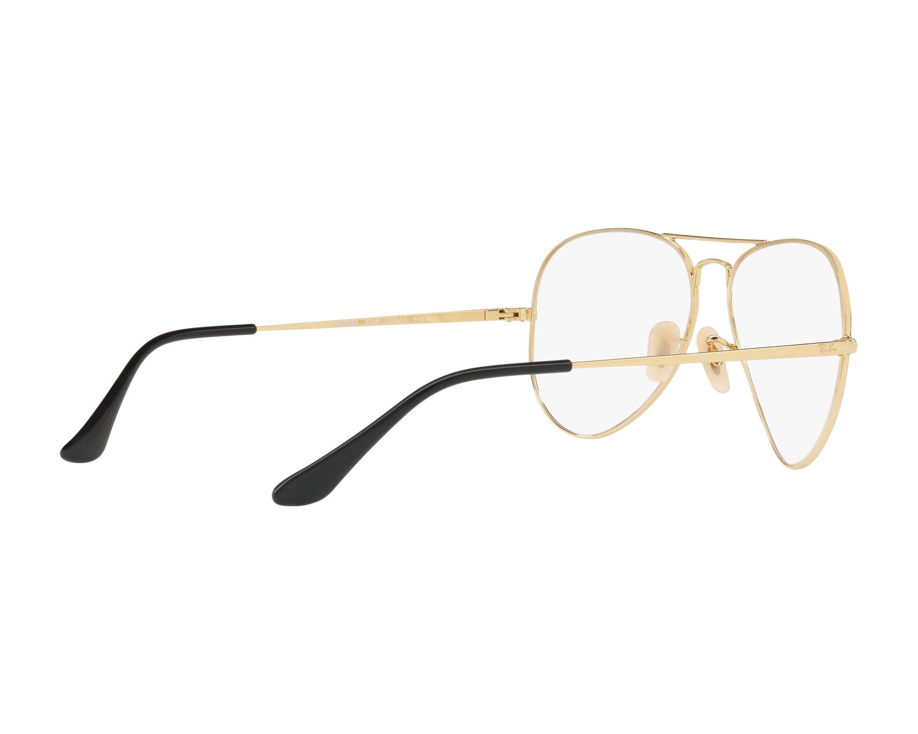 1f49aeb3ba Gafas Graduadas Ray-Ban RX-6489 2946 55-14 Negra Oro Vista de
