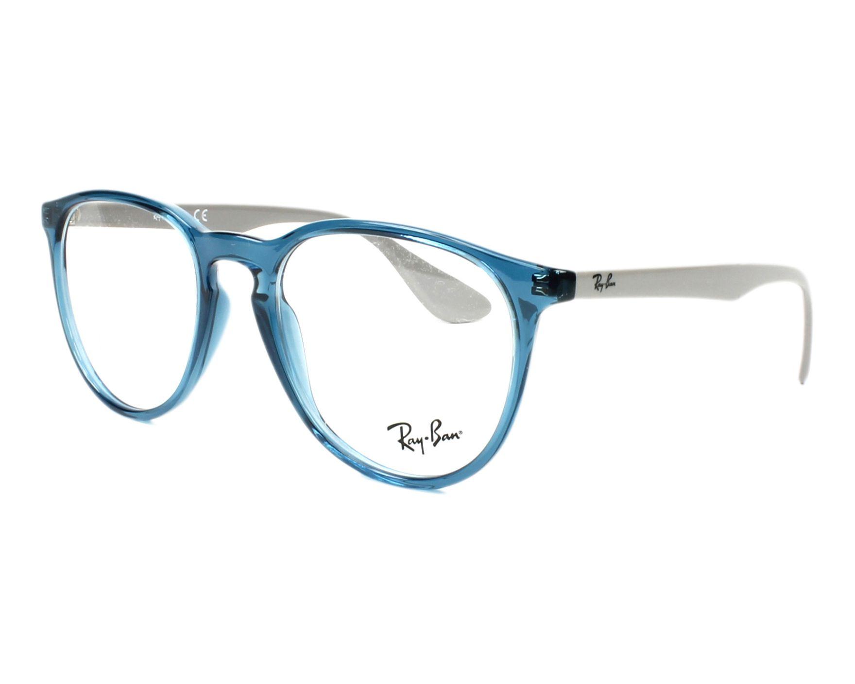 f10dac1ed8 Gafas Graduadas Ray-Ban RX-7046 5732 - Azul Gris vista de perfil