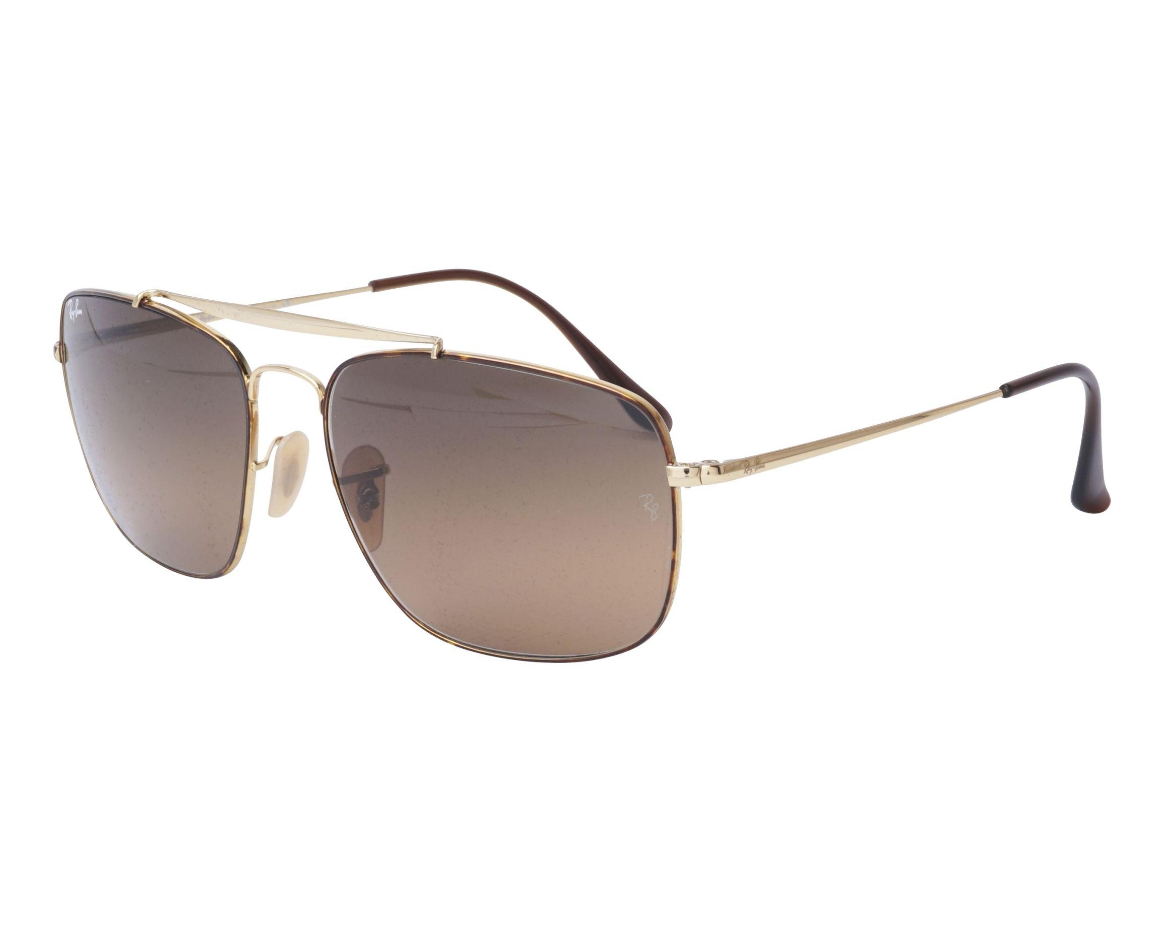 460da55150 Gafas de sol Ray-Ban RB-3560 910443 58-17 Oro Havana vista