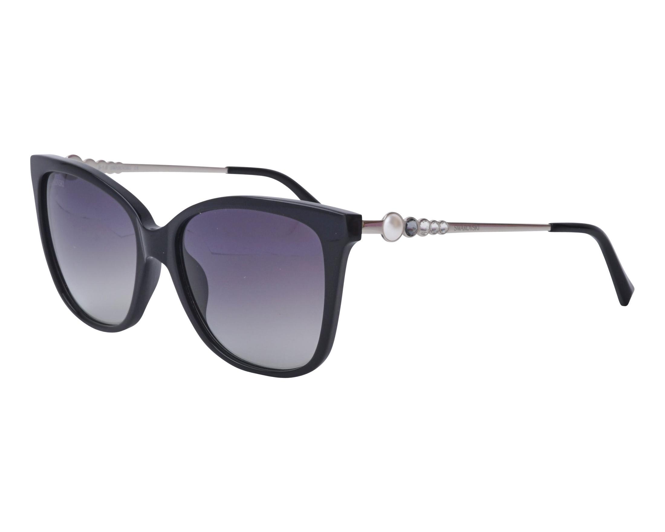 5f41e2faa1 Gafas de sol Swarovski SK-189 01B 55-16 Negra Plata vista de perfil