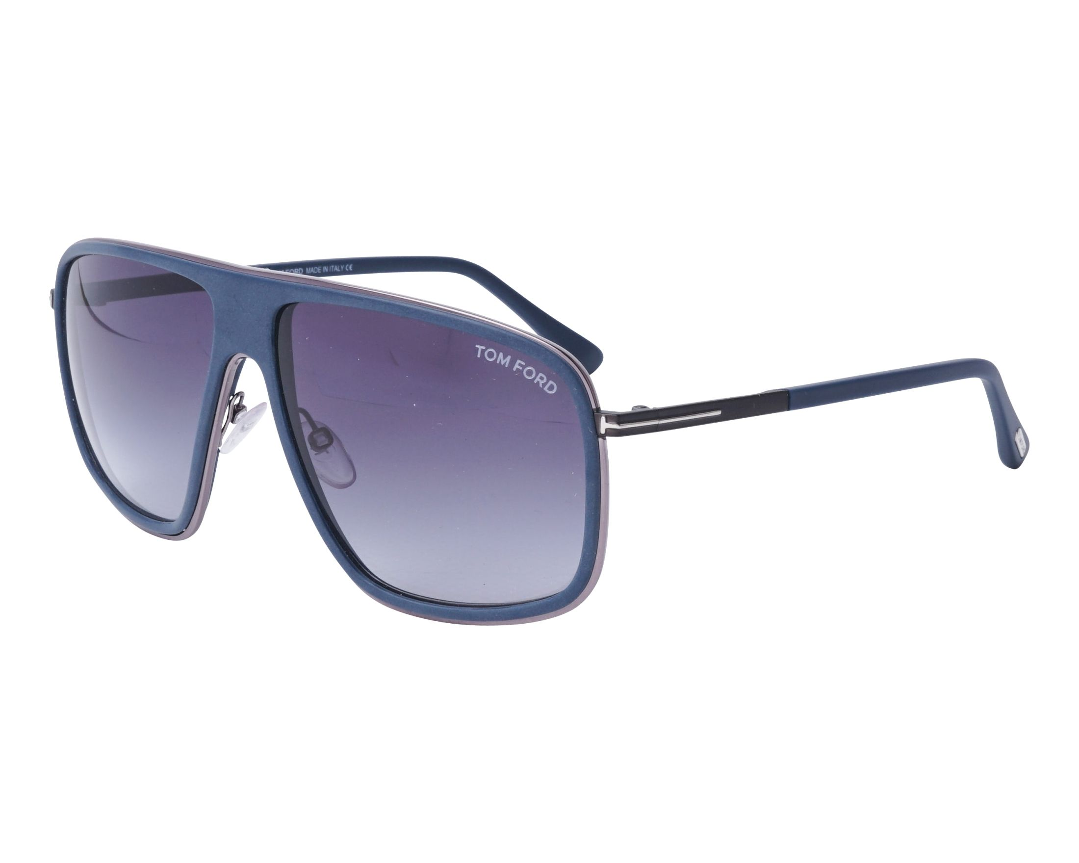 90aa71dc87807 Gafas de sol Tom Ford FT-463 92W 60-13 Azul Gun vista de